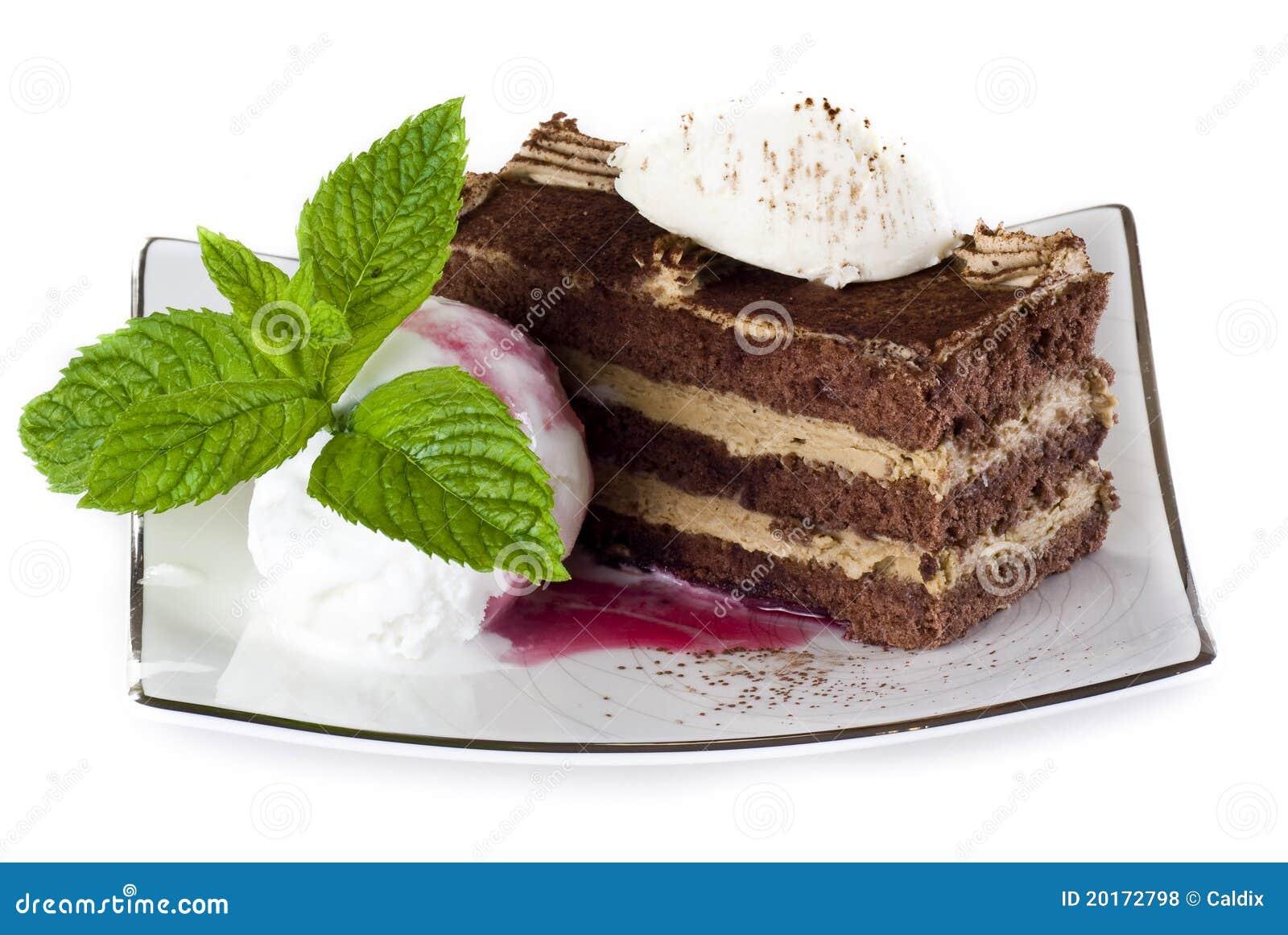 Tiramisu πάγου κρέμας κέικ
