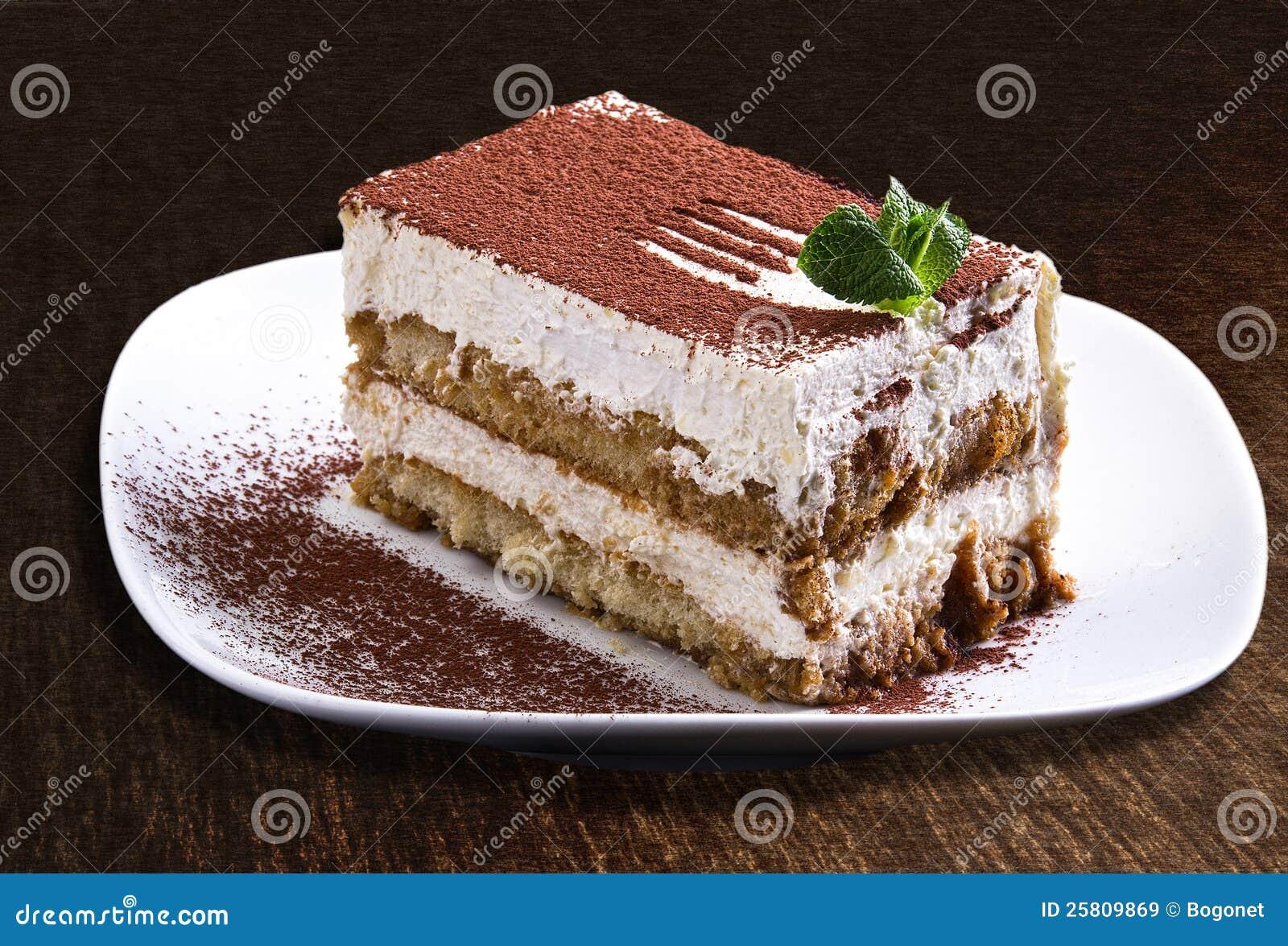 Tiramisu Kuchen Stockbild Bild Von Schokolade Sahne 25809869