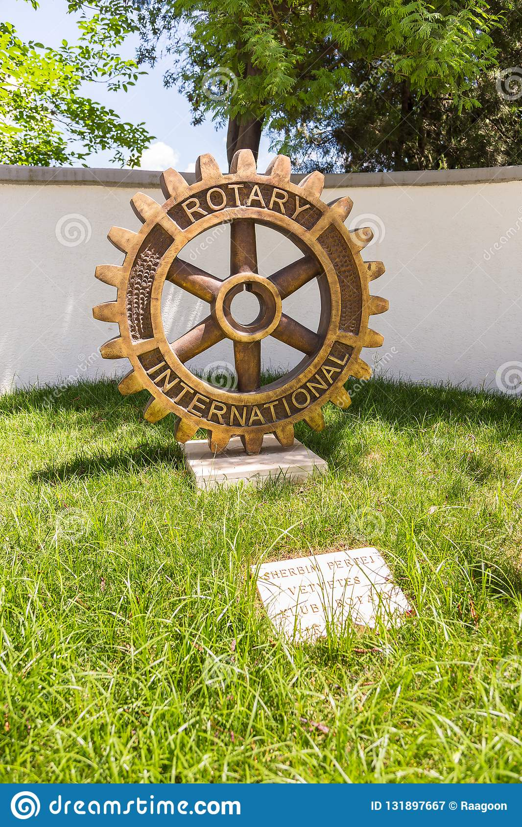 Rotary Club Monument in the center Tirana, Albania.