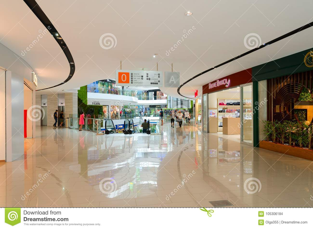 Interior Of Modern Shopping Center Toptani, Tirana, Albania