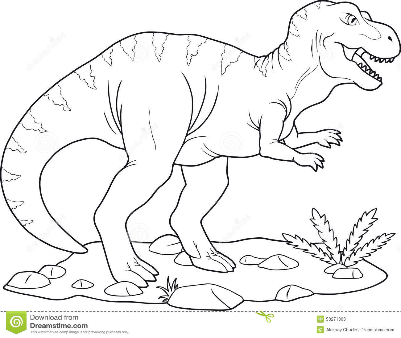 Hermosa Dinosaurio T Rex Para Colorear Composición - Dibujos Para ...