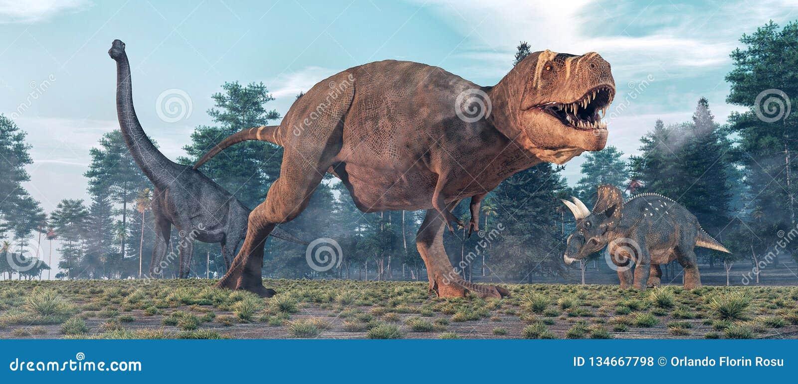 Tiranosaurio Rex en la selva