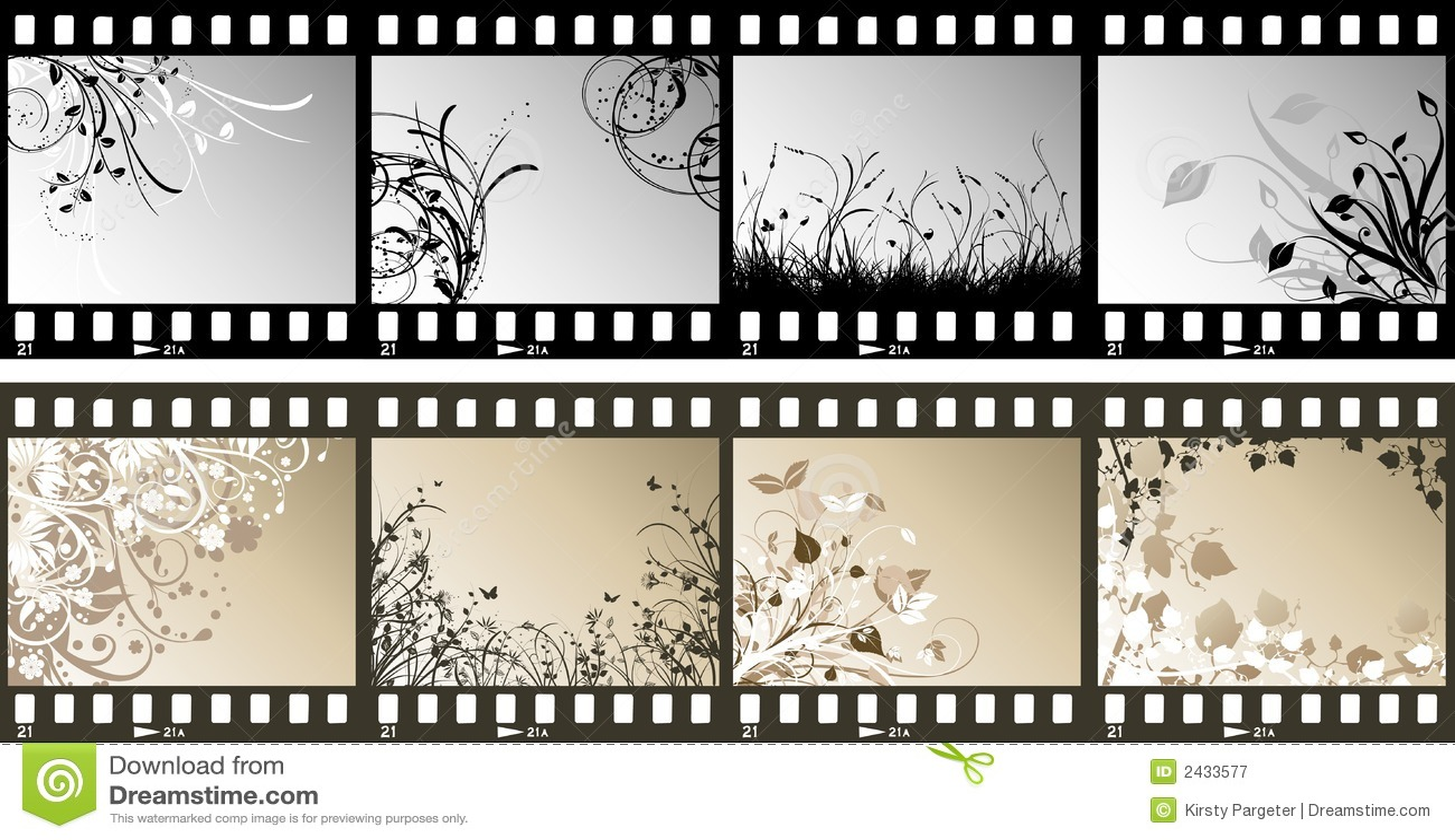 Tiras florales de la película