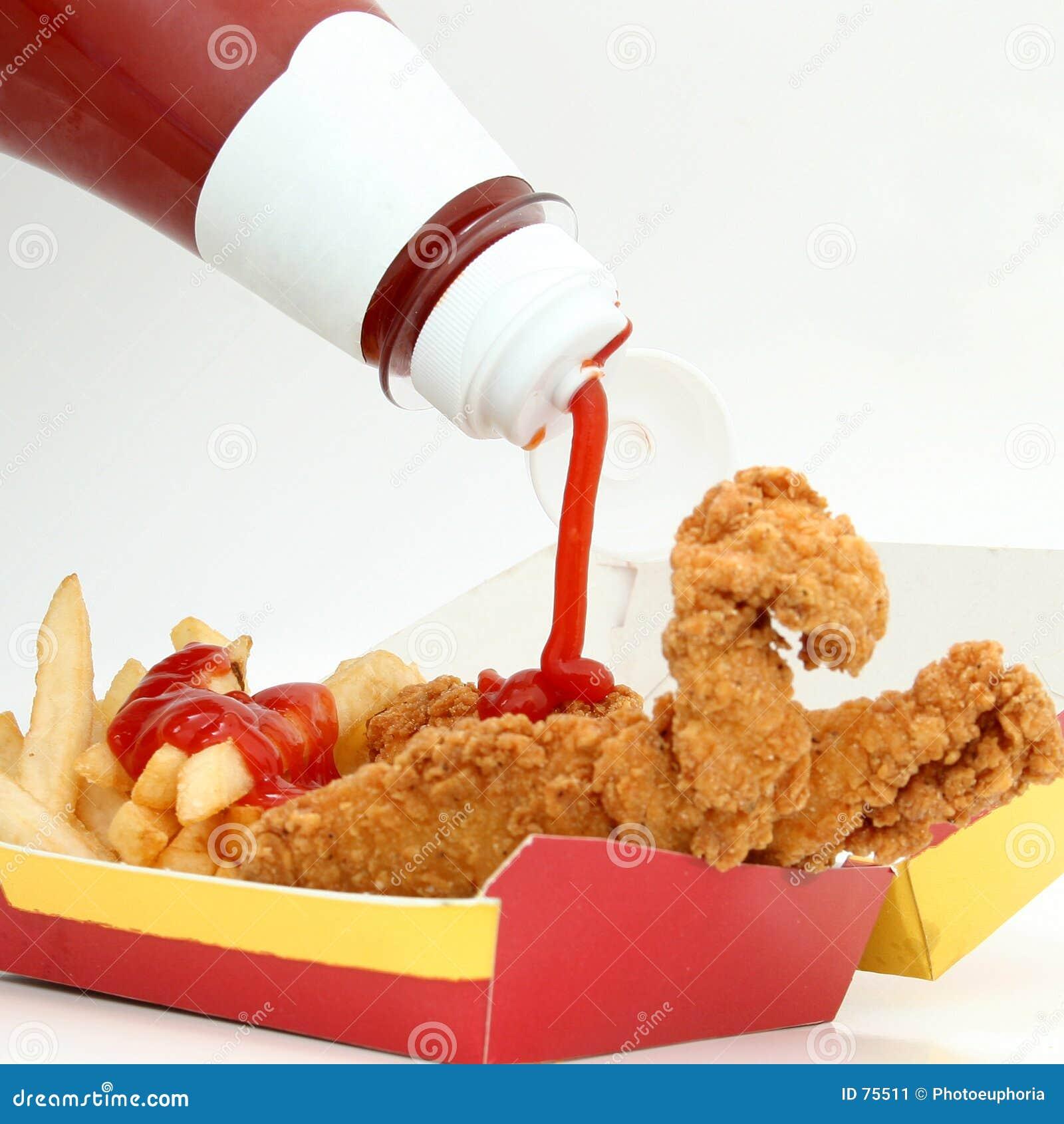 Tiras y fritadas del pollo