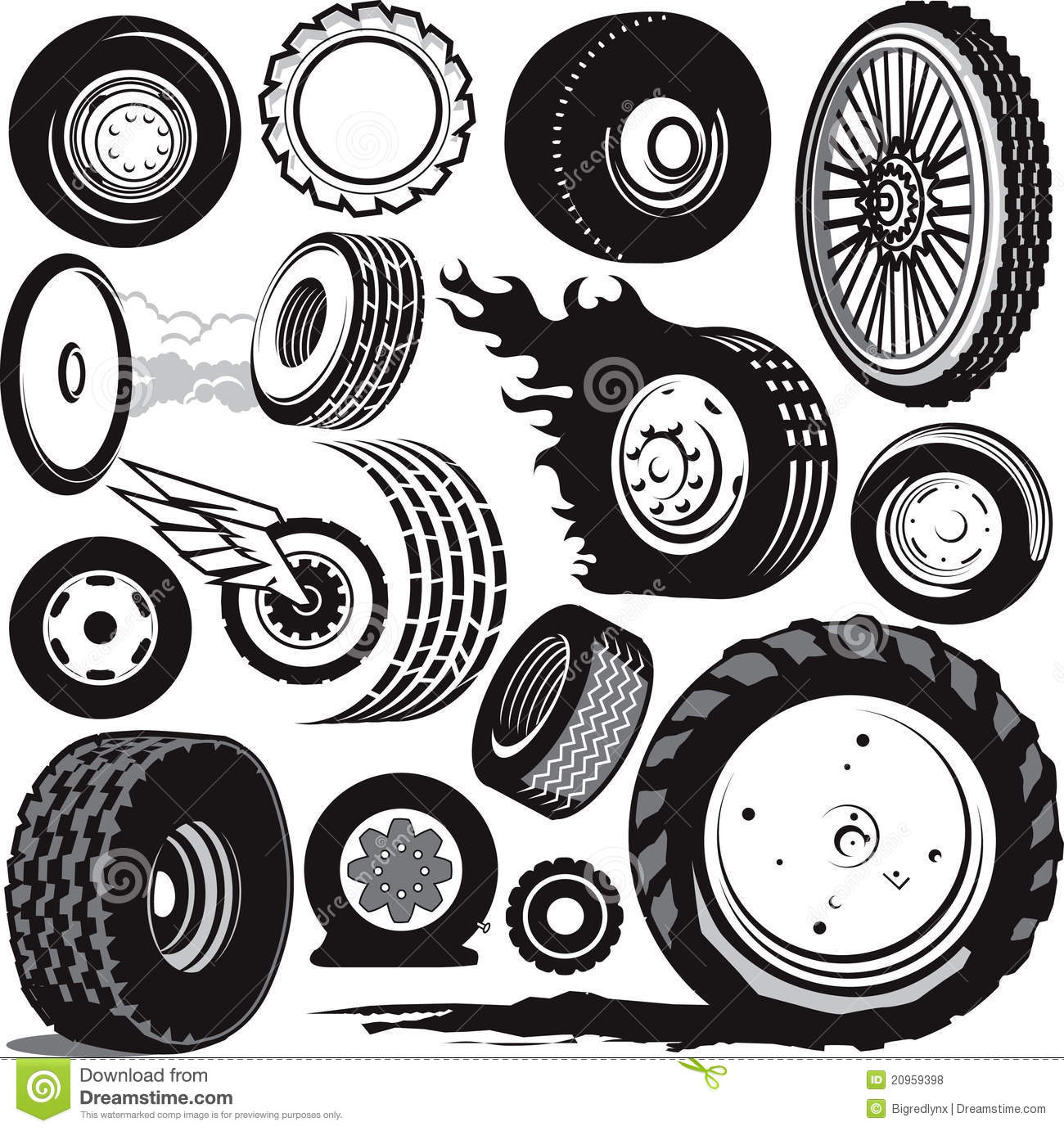 tire collection royalty free stock photos image 20959398 bike tire tread clipart tyre tread clipart