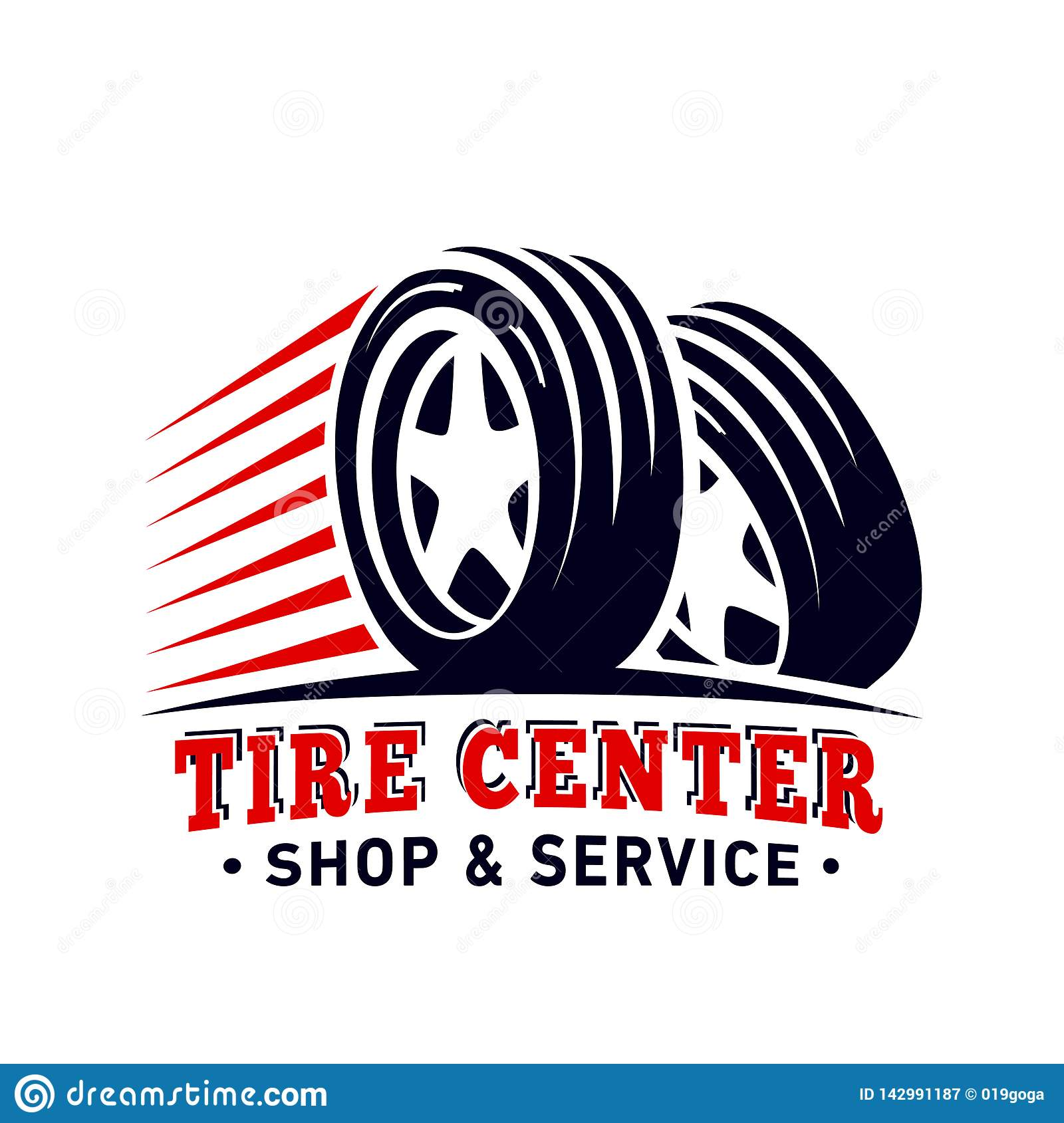 Tyre Center Shop And Service Design Template Tire Center Logo Vector And Illustration Stock Vector Illustration Of Quality Garage 142991187