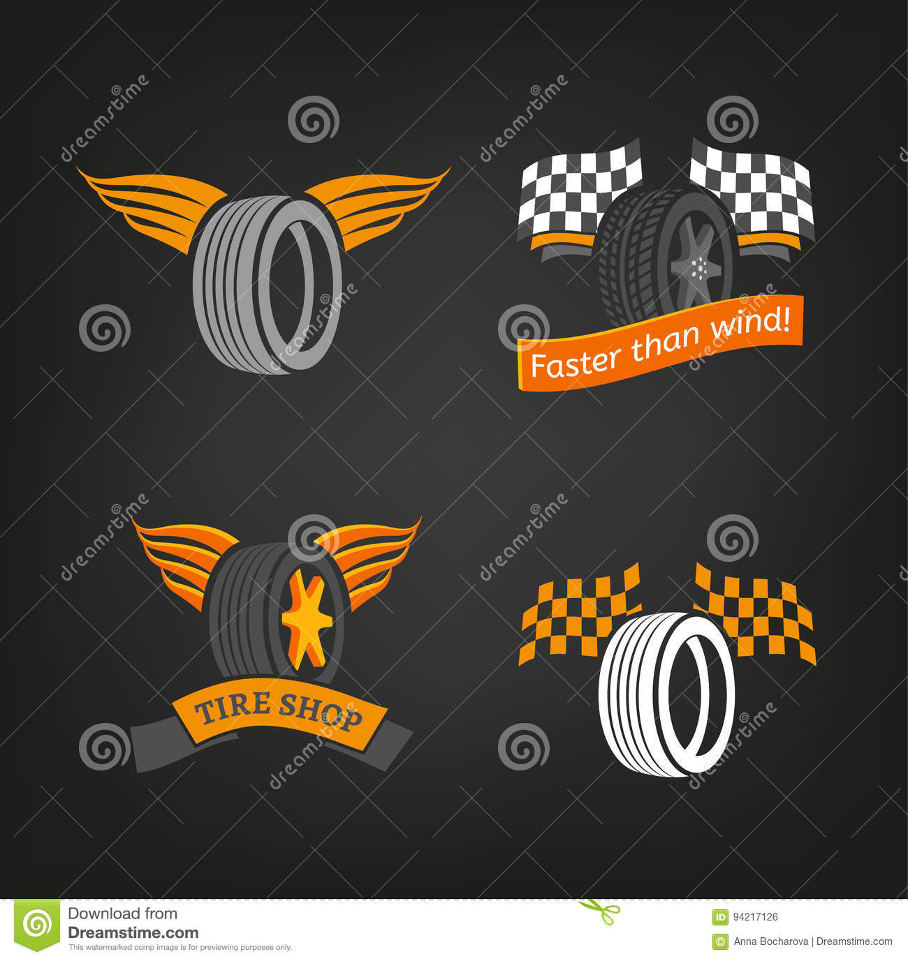 tire shop logo stock vector illustration of station 94217126
