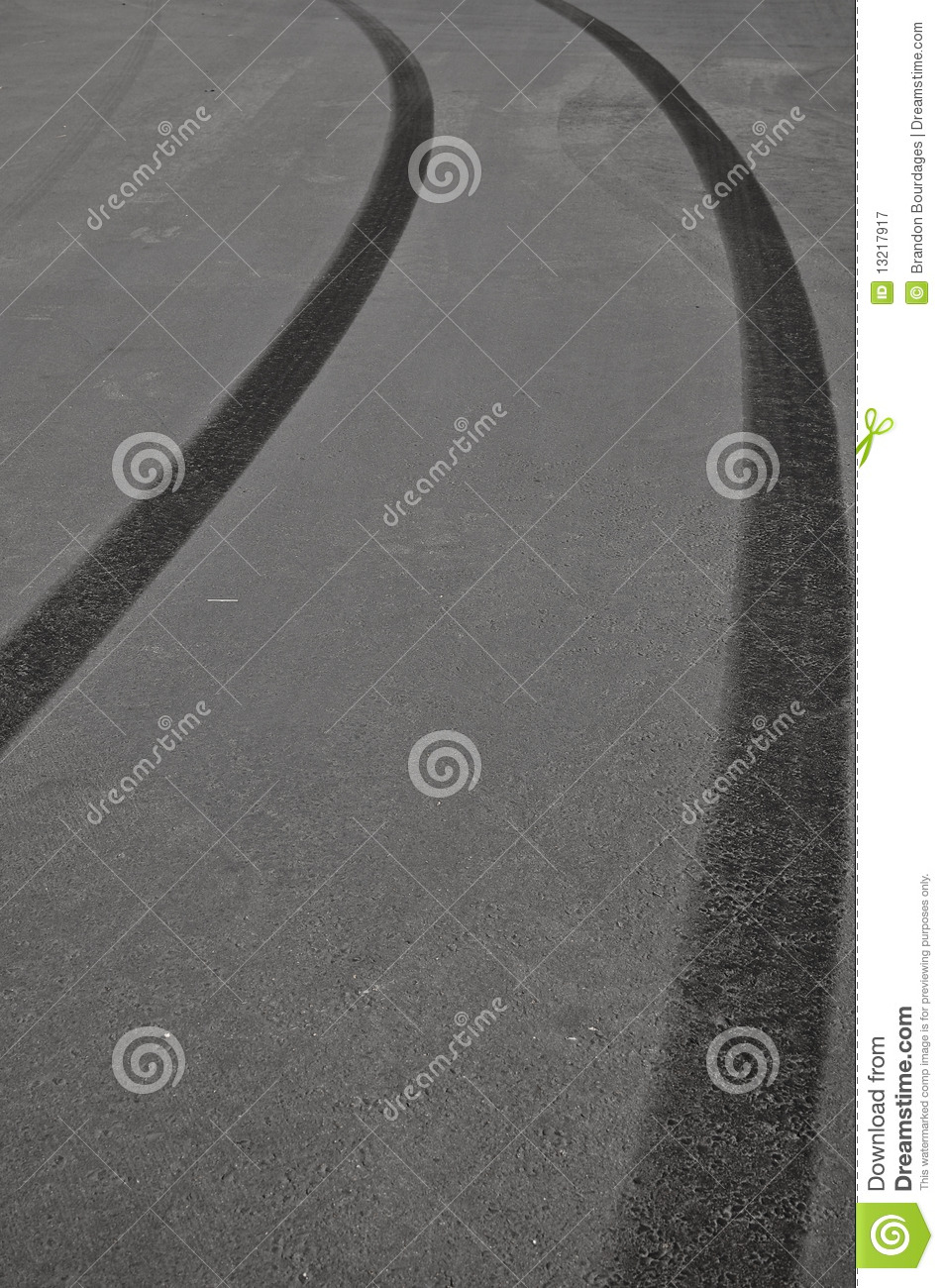 How To Read A Tire >> Tire Skid Marks Royalty Free Stock Photography - Image ...