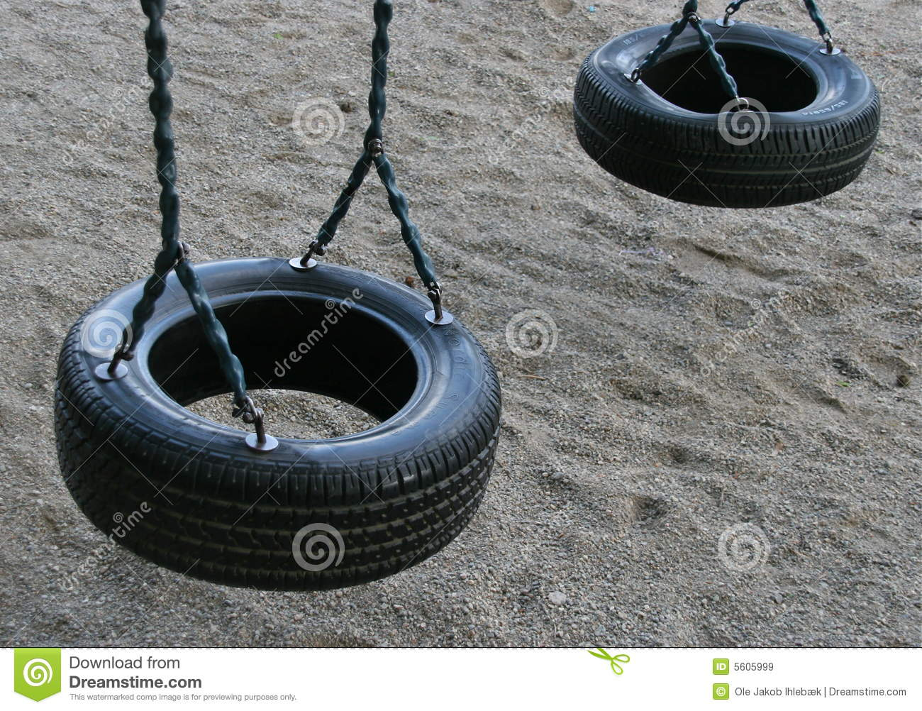 Tire Swing For Children Stock Image Image Of Home Tires 5605999