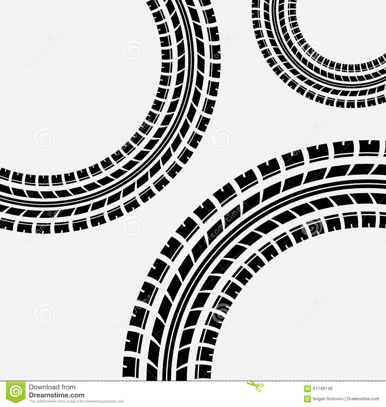 Three tire track banner vector illustration 47823436 - Tire tread wallpaper ...
