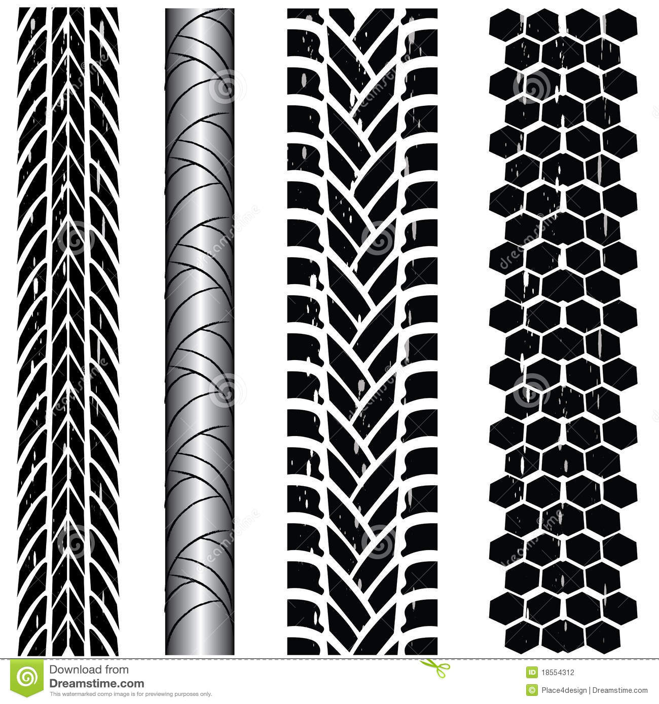 Tire track collection stock vector. Illustration of illustration - 18554312