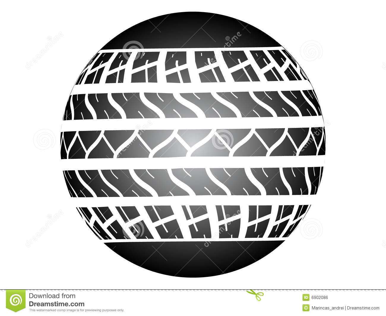 tire track ob ball royalty free stock image image 6902086. Black Bedroom Furniture Sets. Home Design Ideas