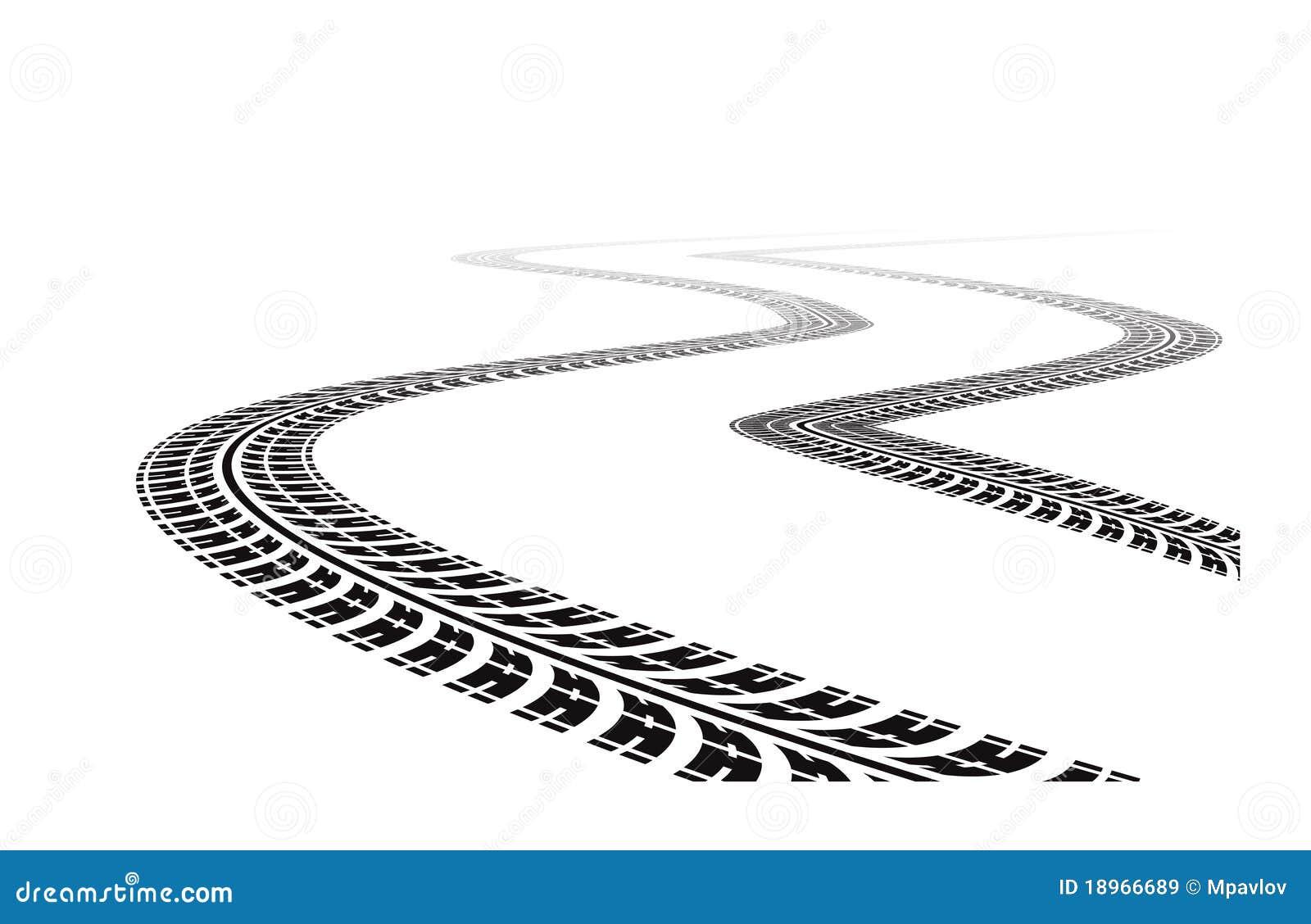 vector clipart tire tracks - photo #27