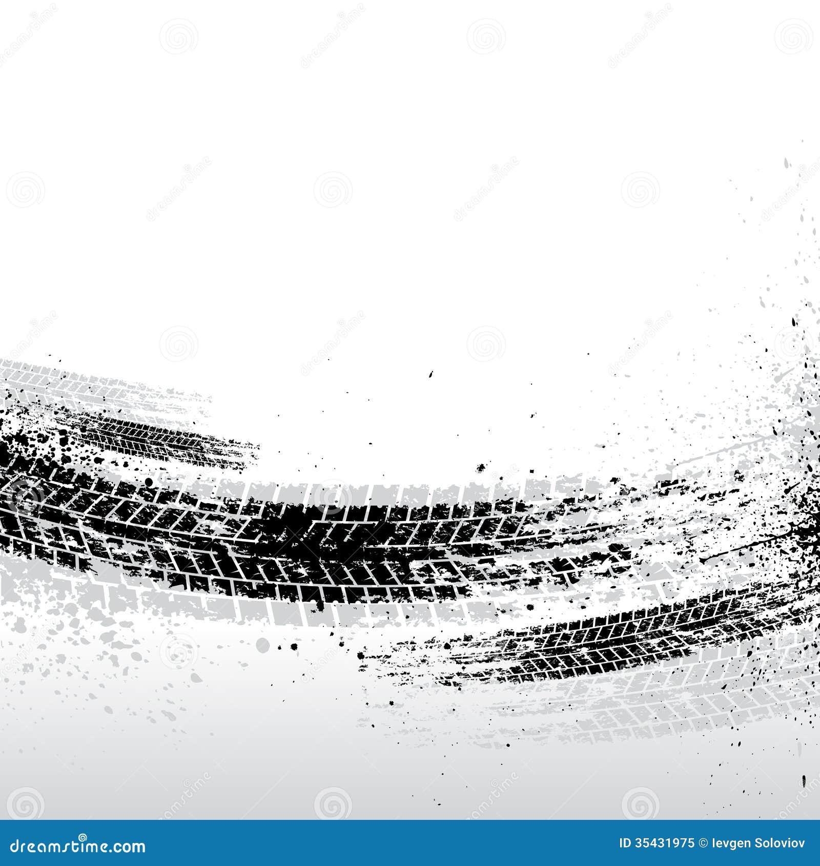 Tire tracks background stock illustration  Illustration of