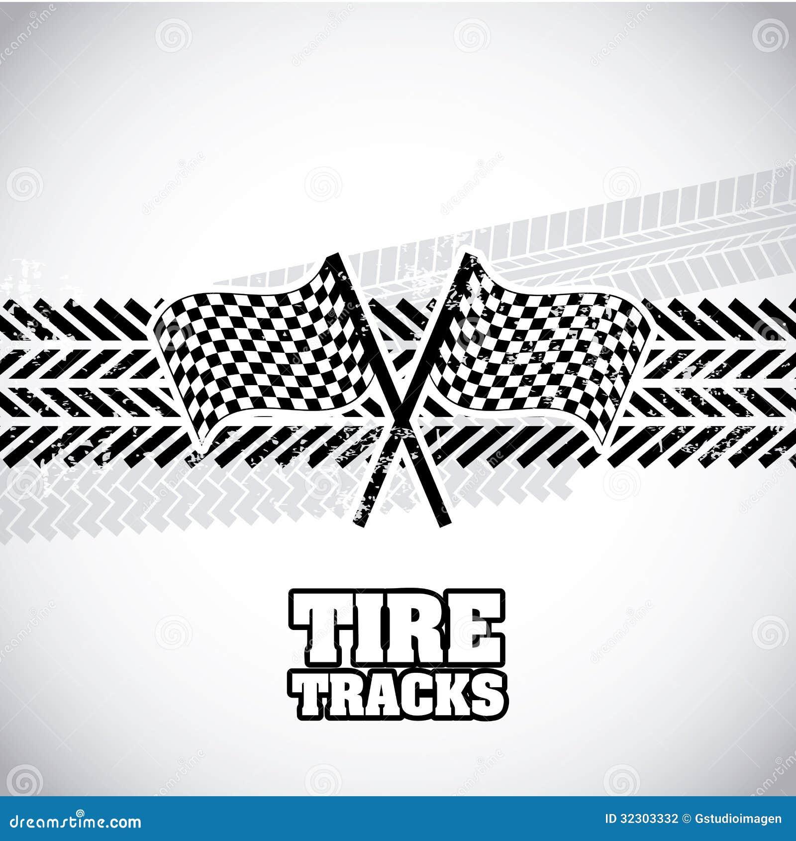 vector clipart tire tracks - photo #46
