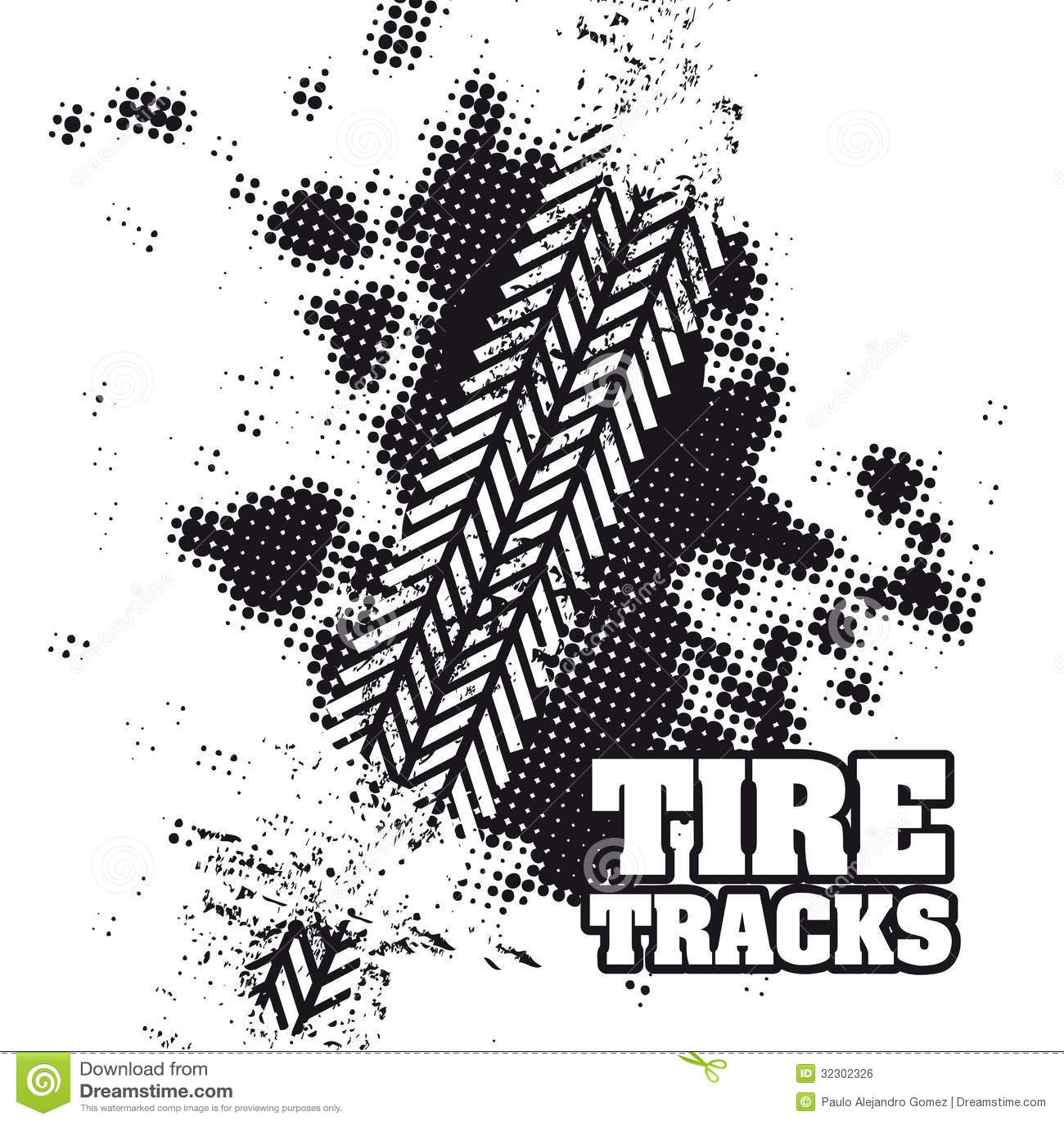 vector clipart tire tracks - photo #10