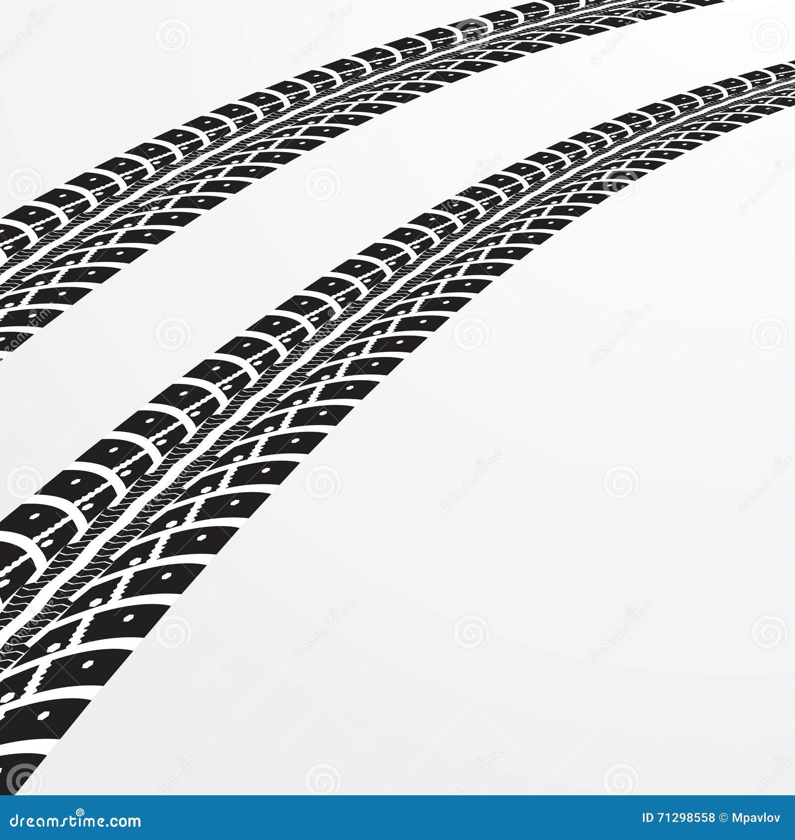 tire tracks vector stock vector illustration of black 71298558 rh dreamstime com tire tracks vector png tire tracks vector png