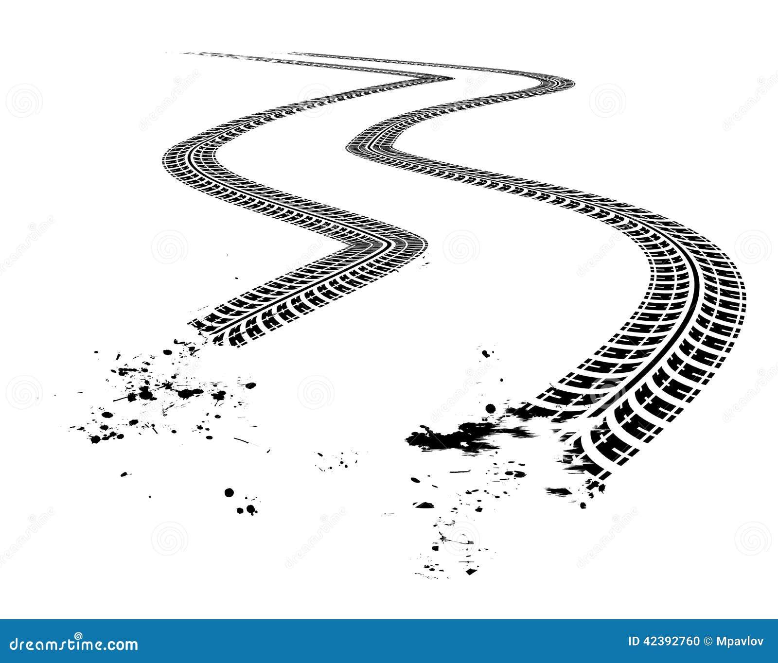 vector clipart tire tracks - photo #23