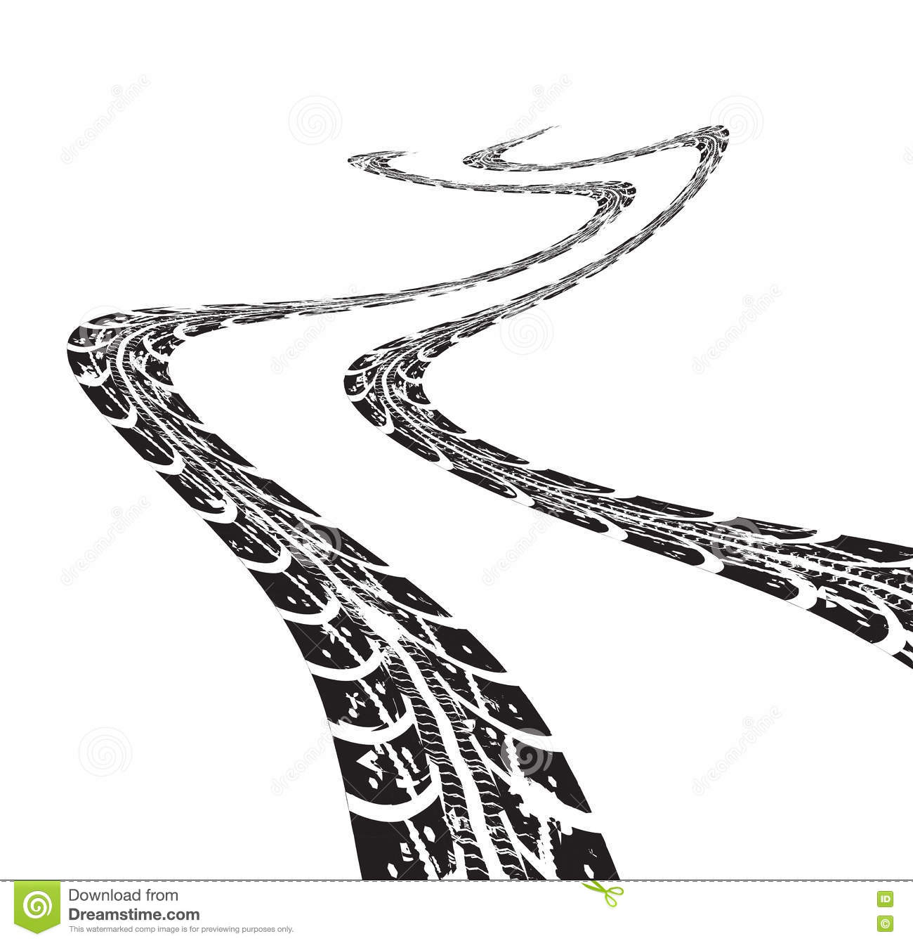 Dirt Bike Clipart Black And White Tire Tracks Vector Car...