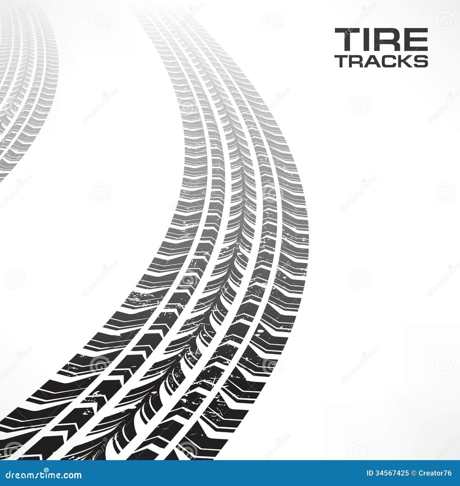 vector clipart tire tracks - photo #6
