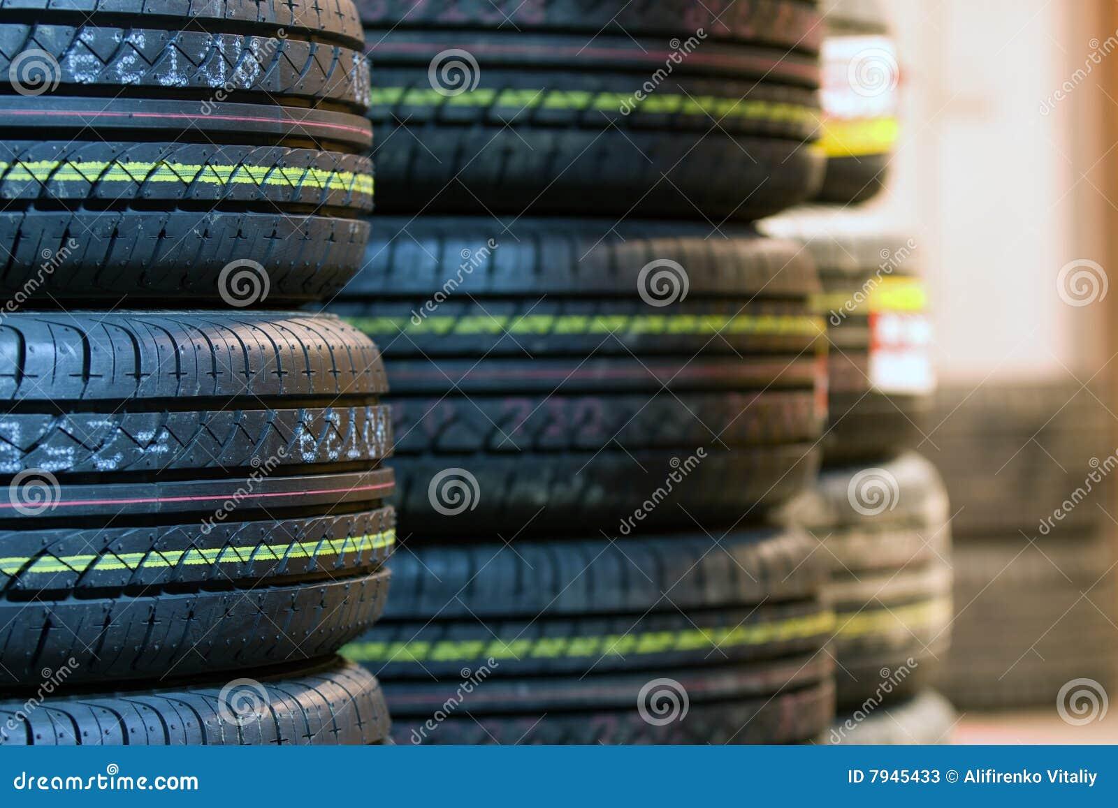 Tire tread close up