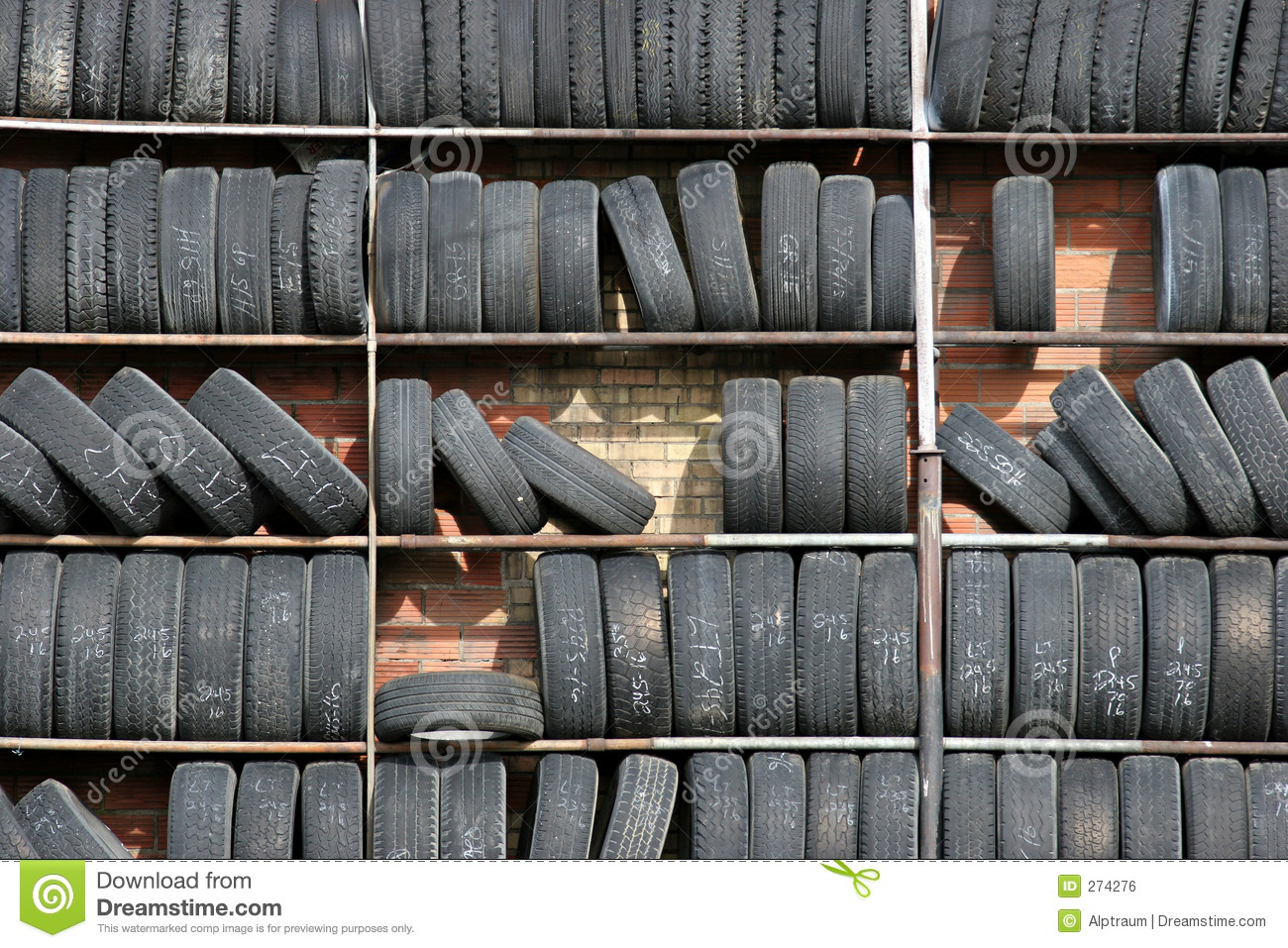 Tire Wall Royalty Free Stock Image - Image: 274276