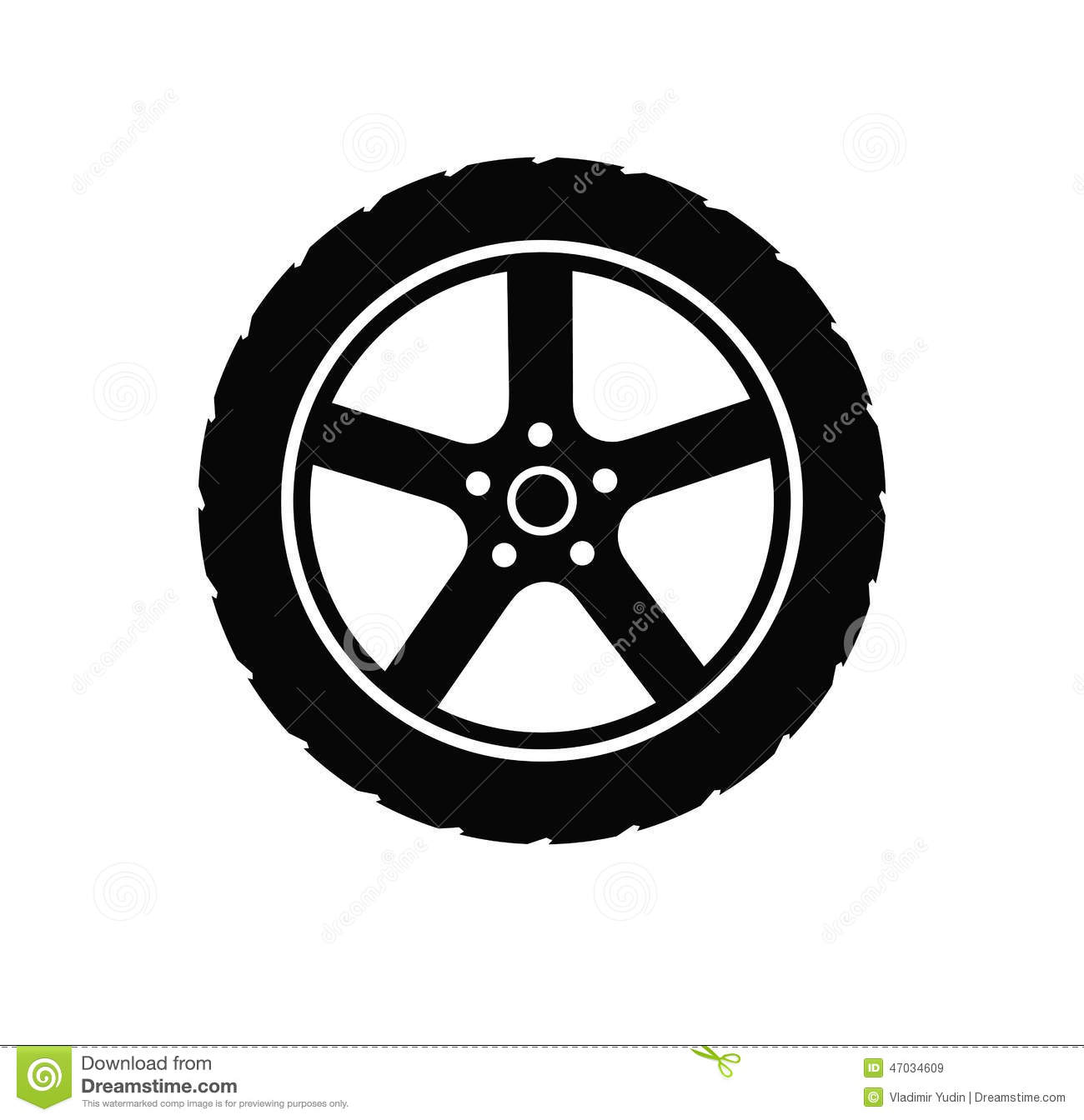 Tire And Wheel Stock Vector - Image: 47034609