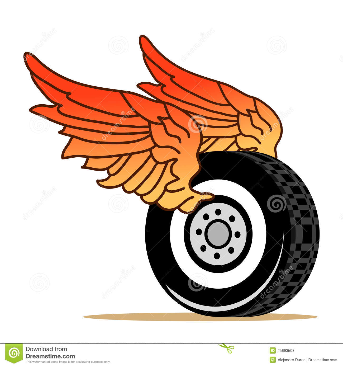 tire wings royalty free stock photos image 25693508