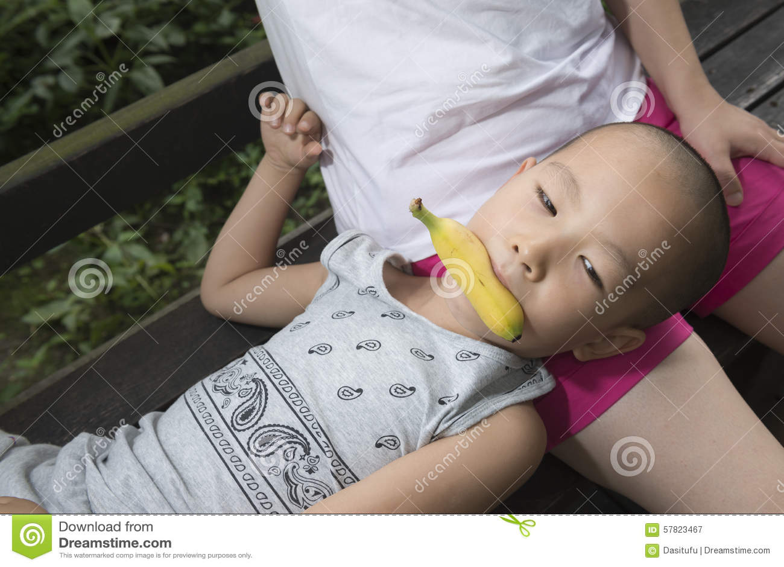 Sleeping cum in mouth
