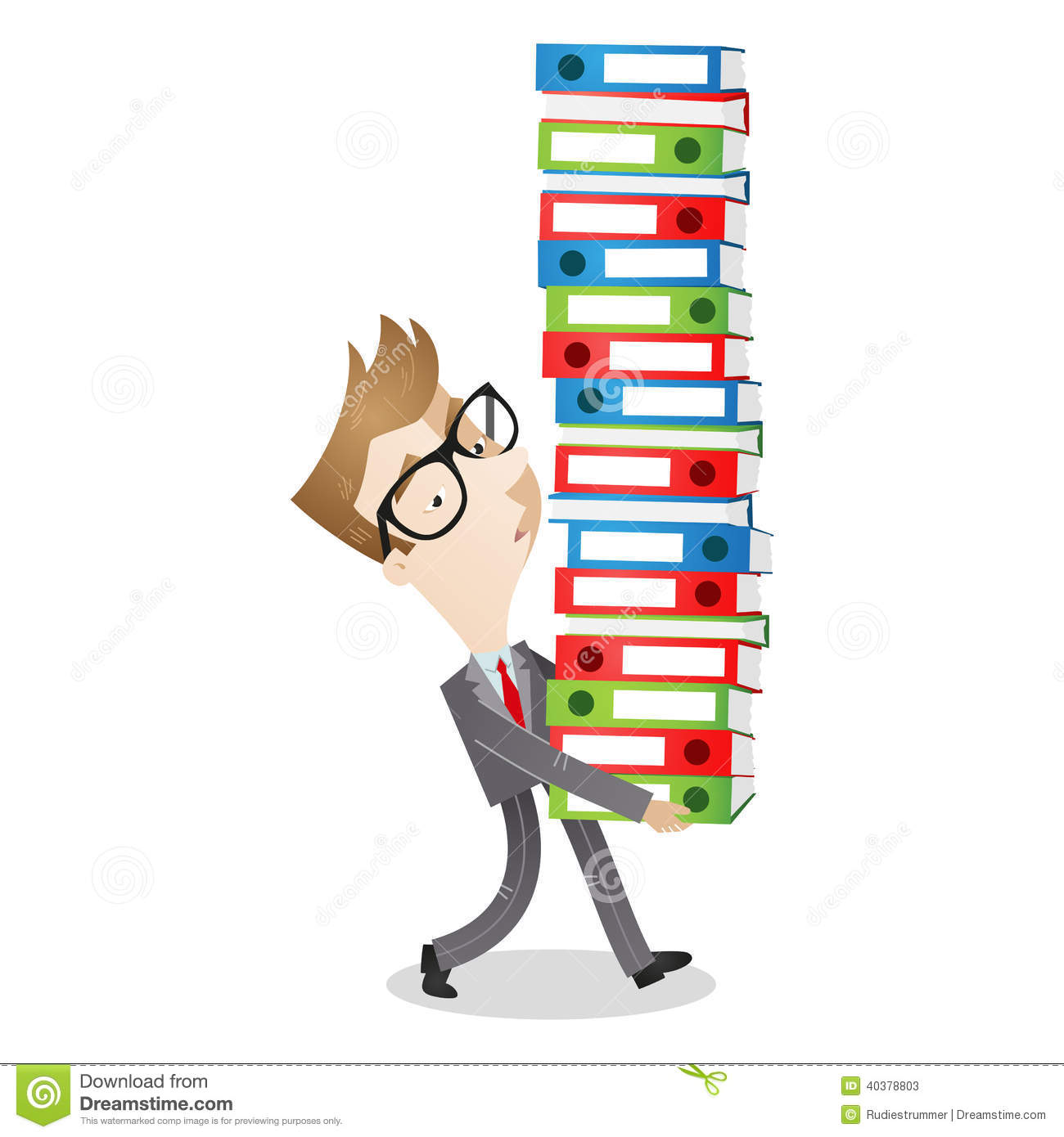 tired businessman carrying paperwork stock vector free clip art for borders and frames free clip art for binder covers business