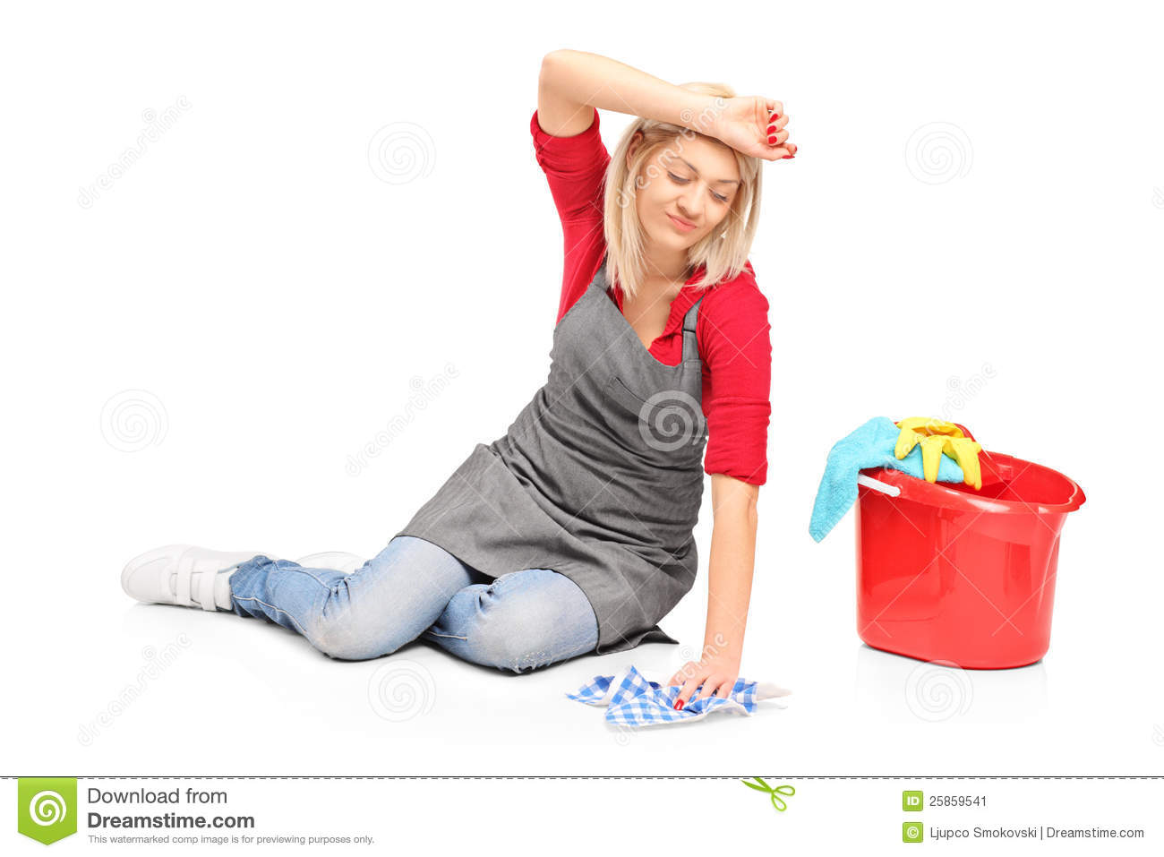 Tired female cleaning a floor stock image image 25859541 for On the floor on the floor