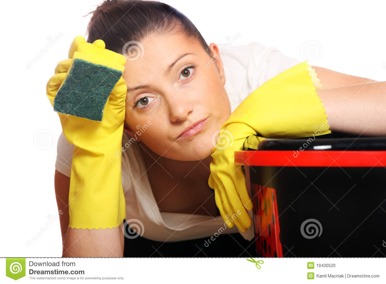 Tired Housewife Stock Photo - Image: 19430520