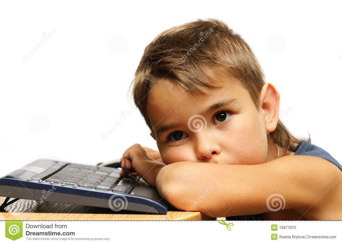 Tired Child Clip Art Tired kid put down his head