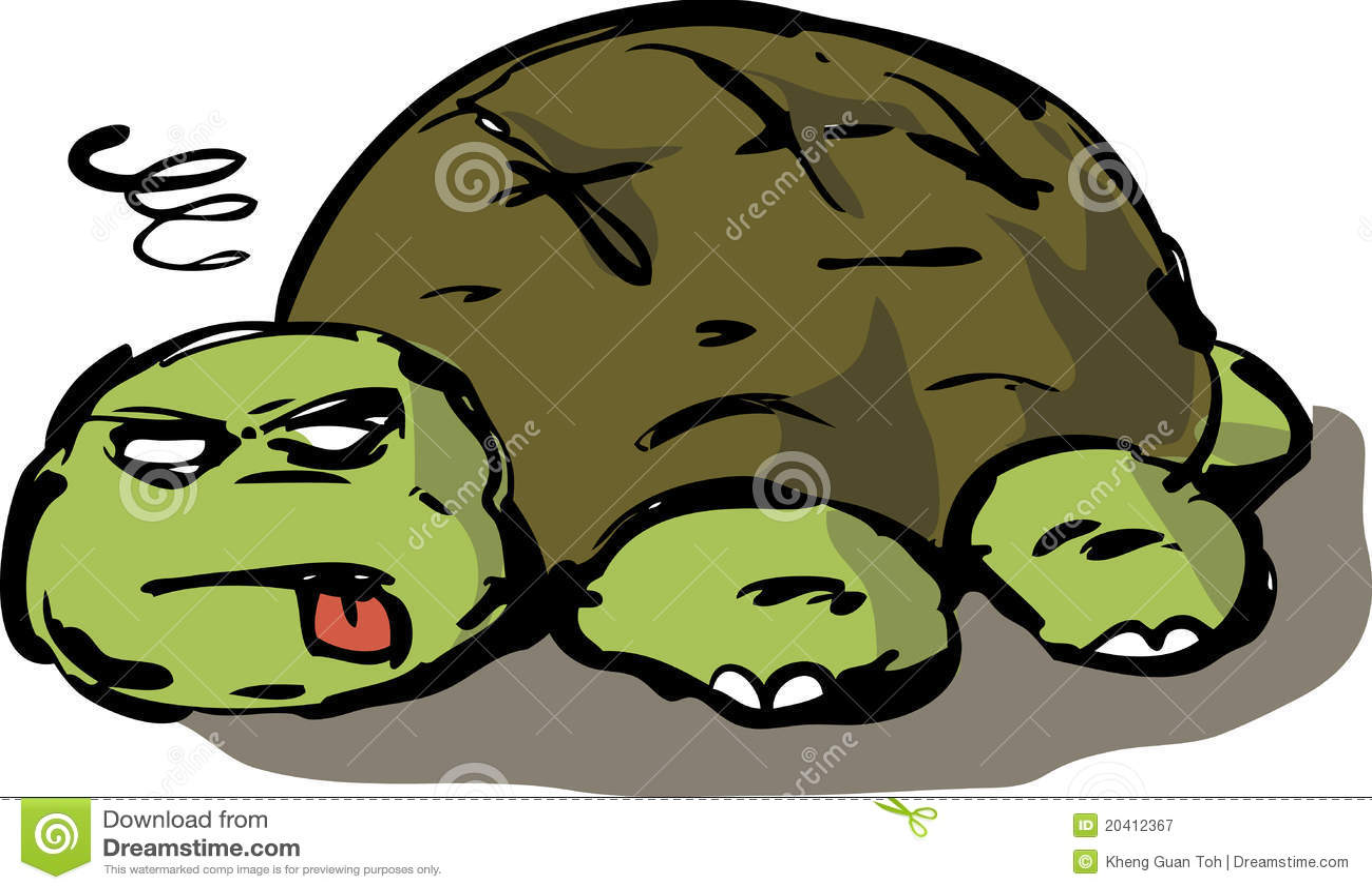 Tired Lazy Turtle Illustration Stock Illustration