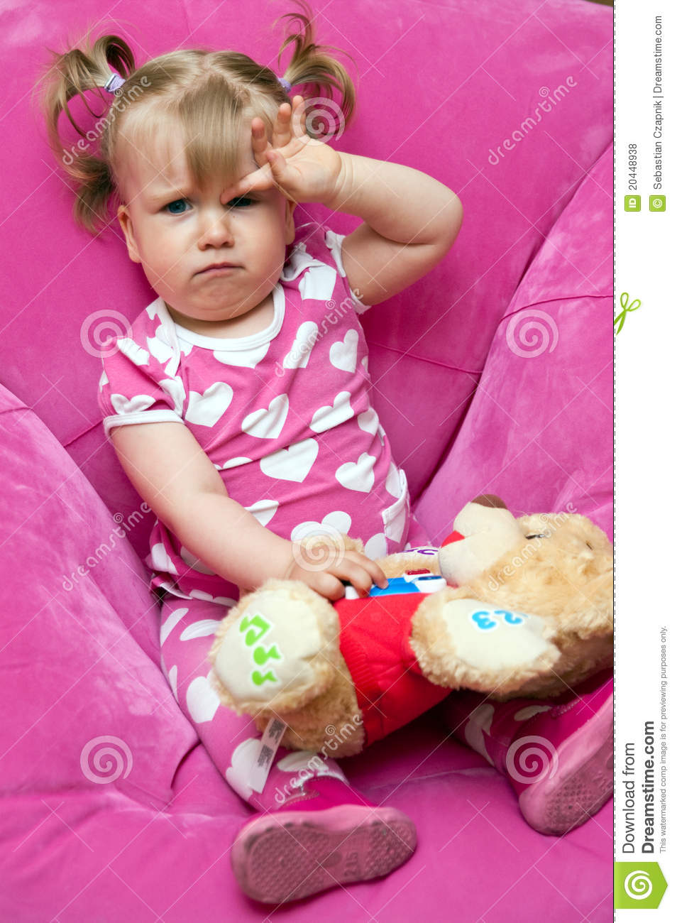 tired little girl royalty free stock photos image 20448938