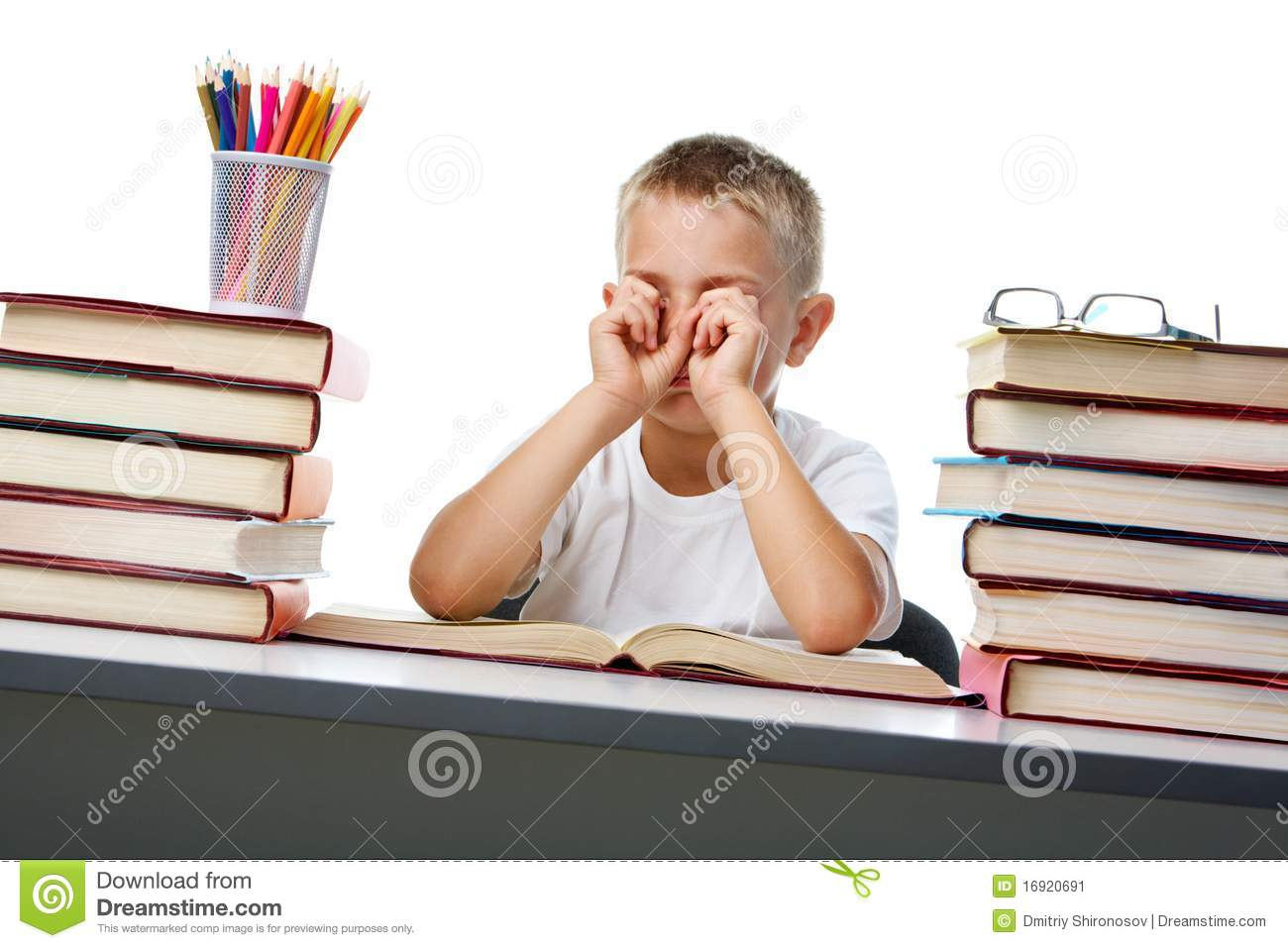 tired of reading stock image image 16920691