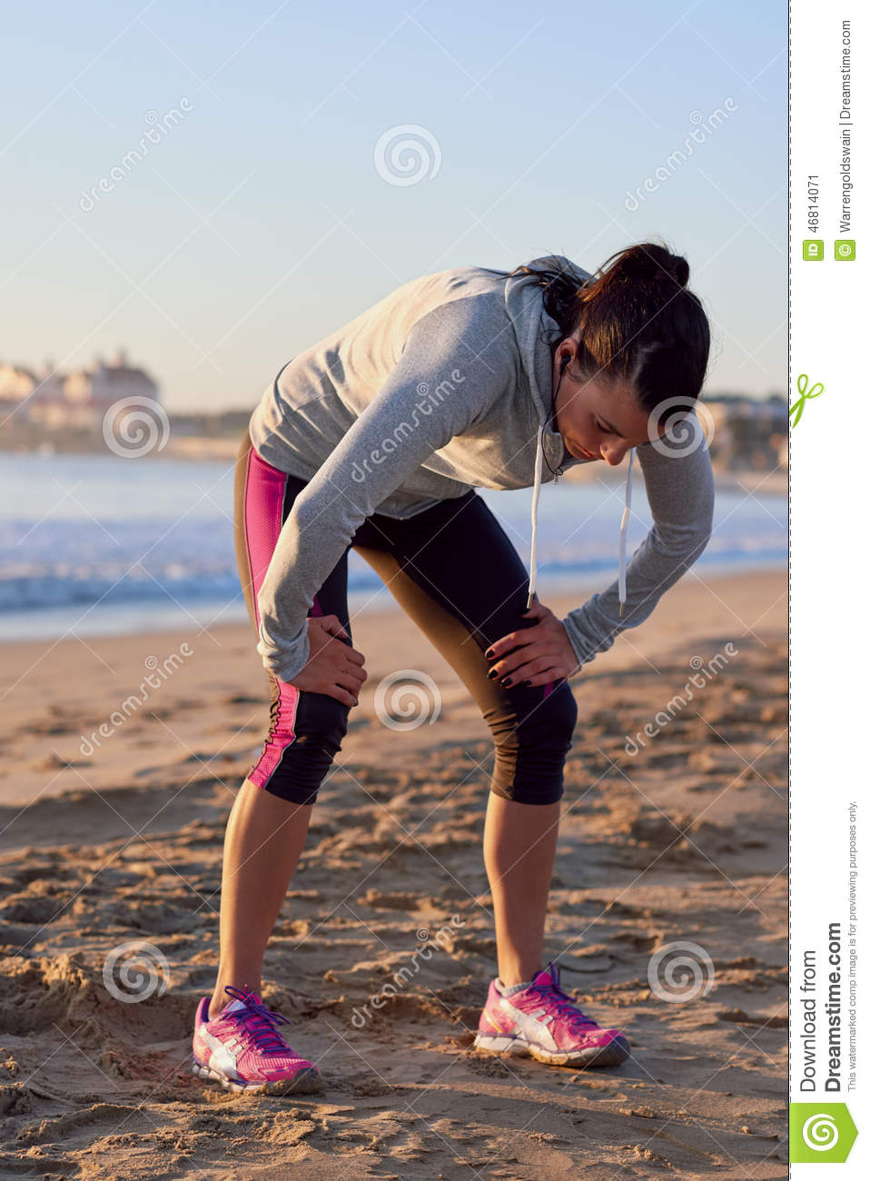 tired runner stock image image of athletic sweat