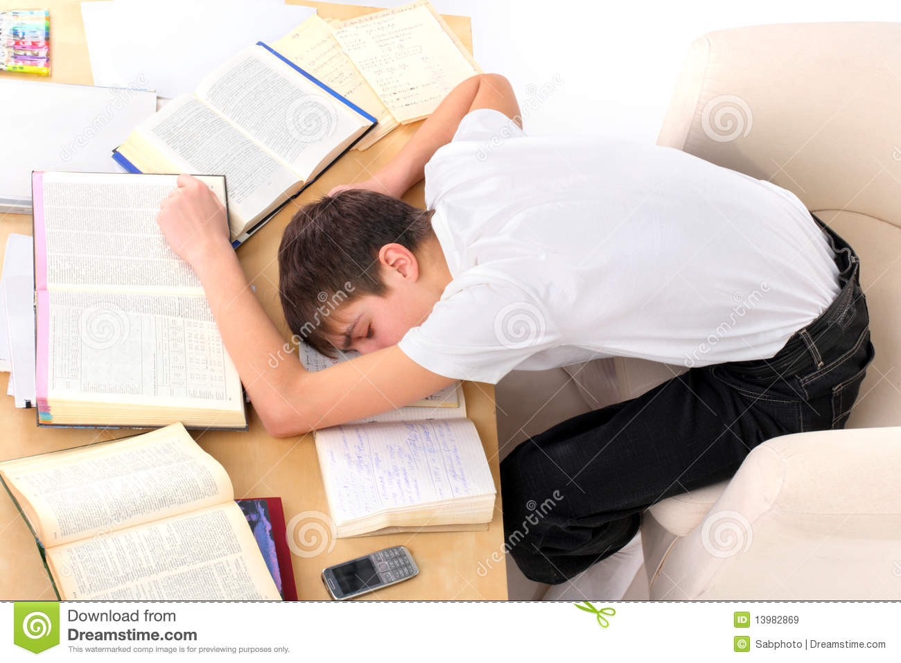 Tired Student Royalty Free Stock Images - Image: 13982869