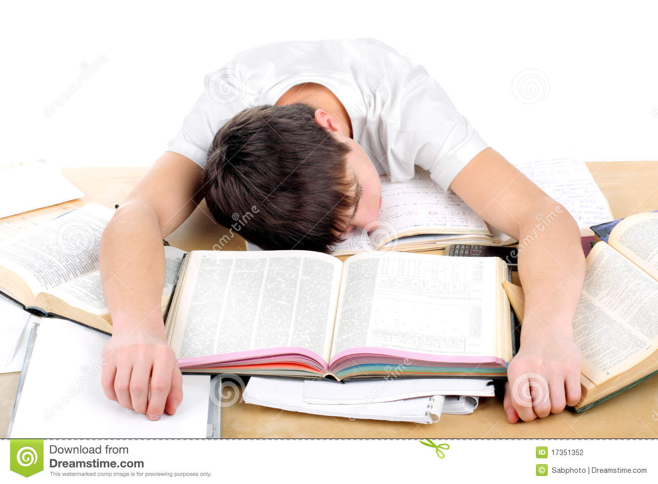 Tired Student Stock Photography Image 17351352