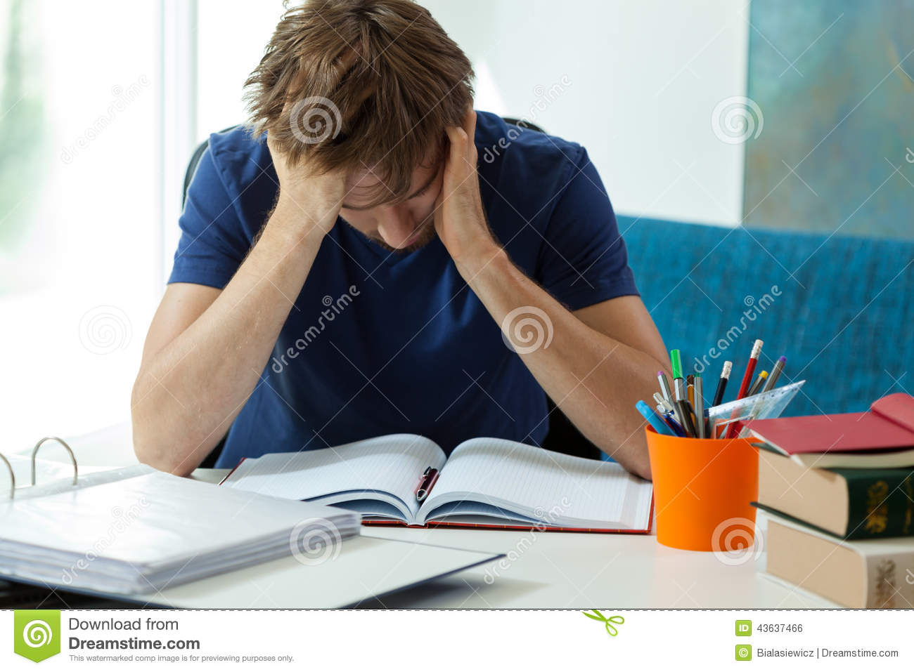 Tired student doesn t want to learn