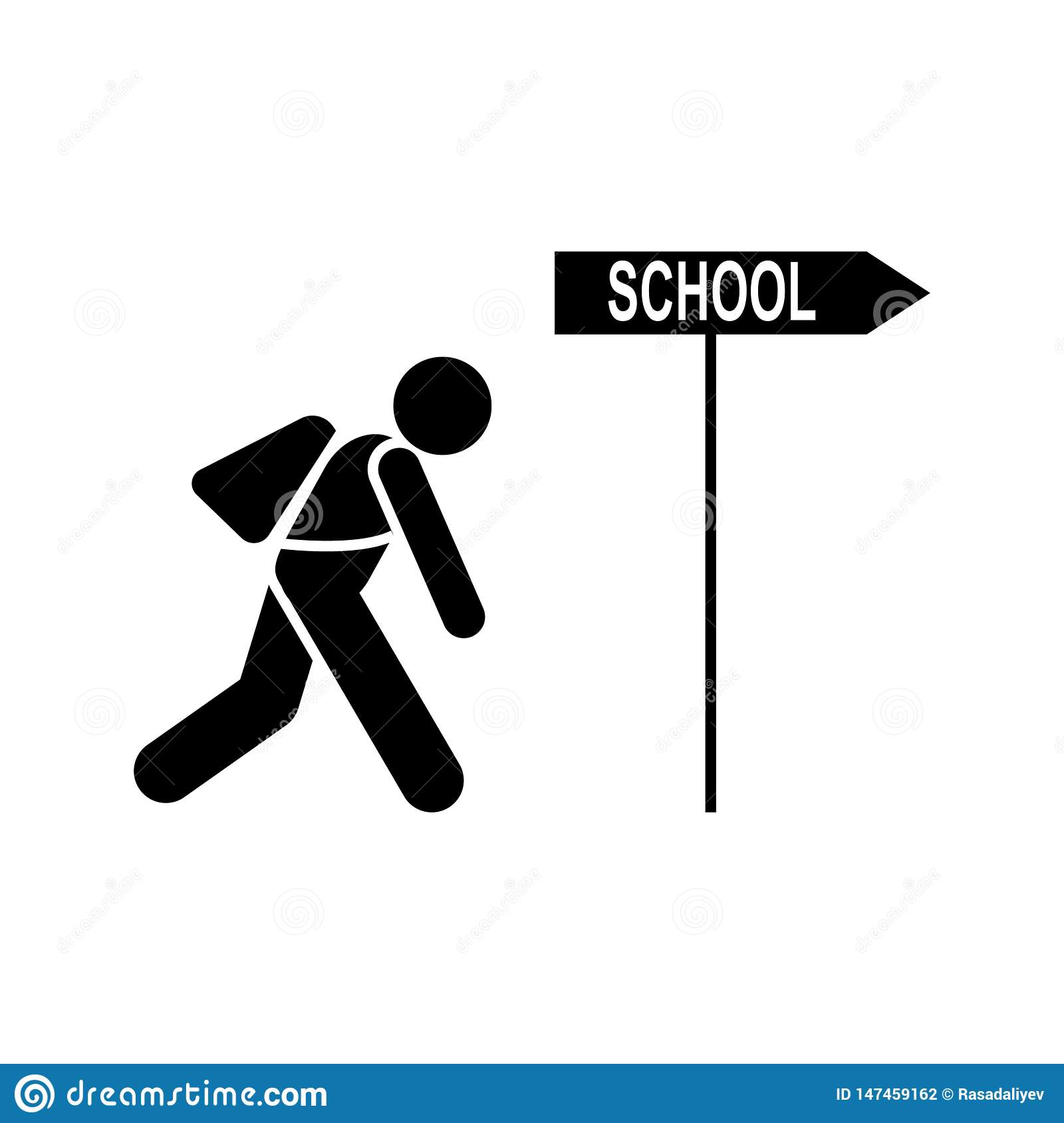 Tired, Student, School Icon  Element Of Education Pictogram