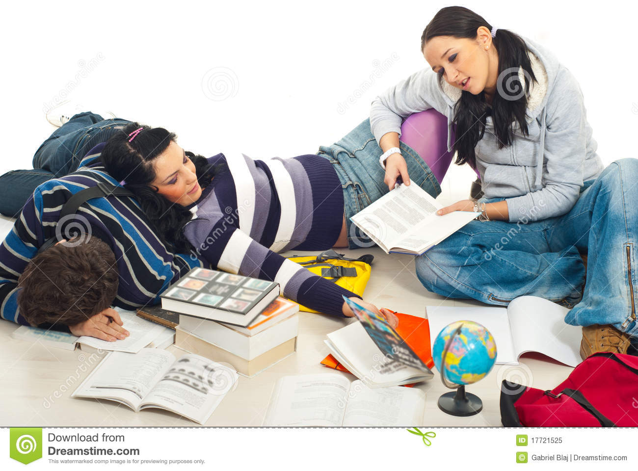 Tired Students Of Studying Royalty Free Stock Photo