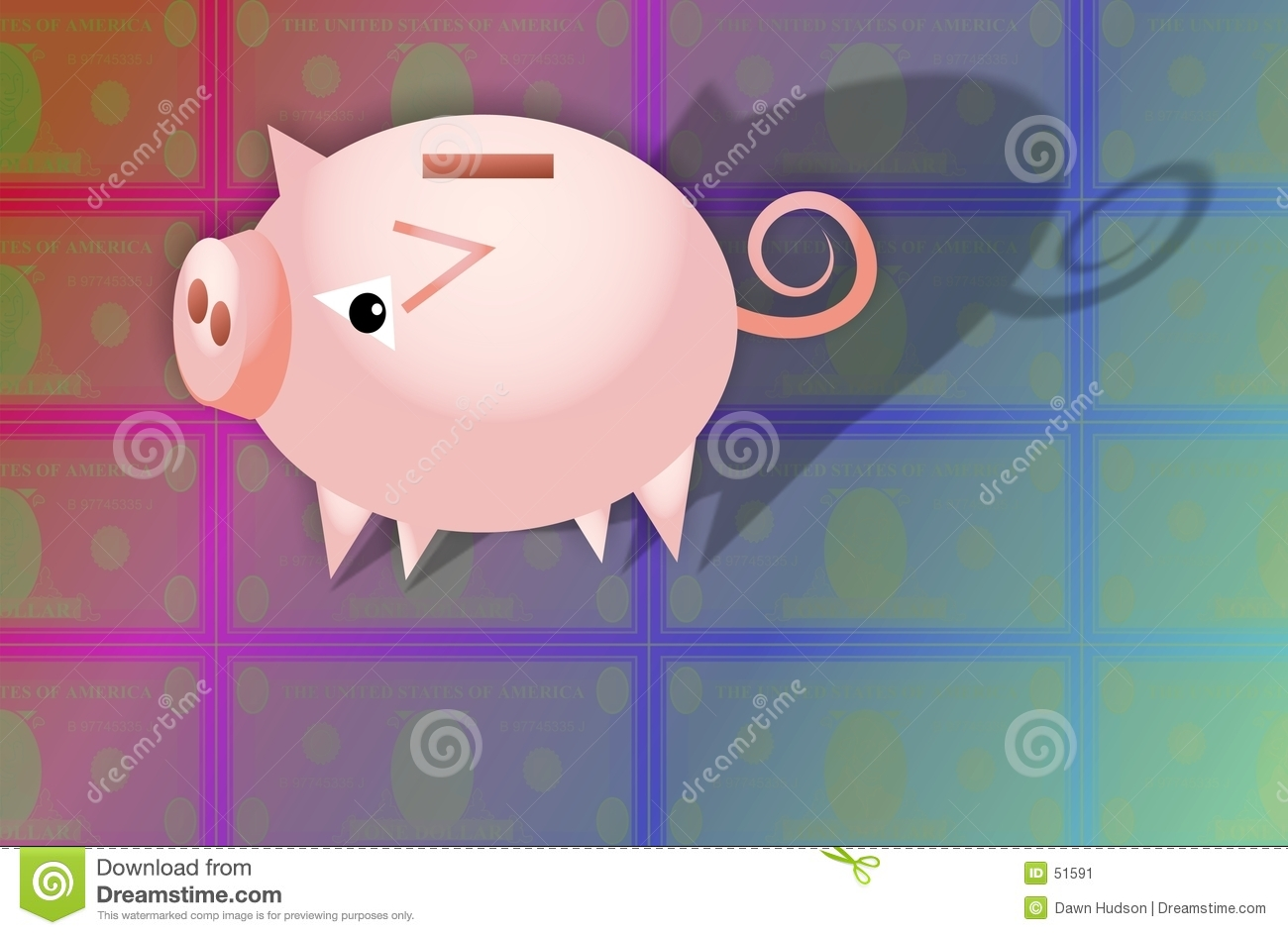 Download Tirelire illustration stock. Illustration du porc, concepts - 51591
