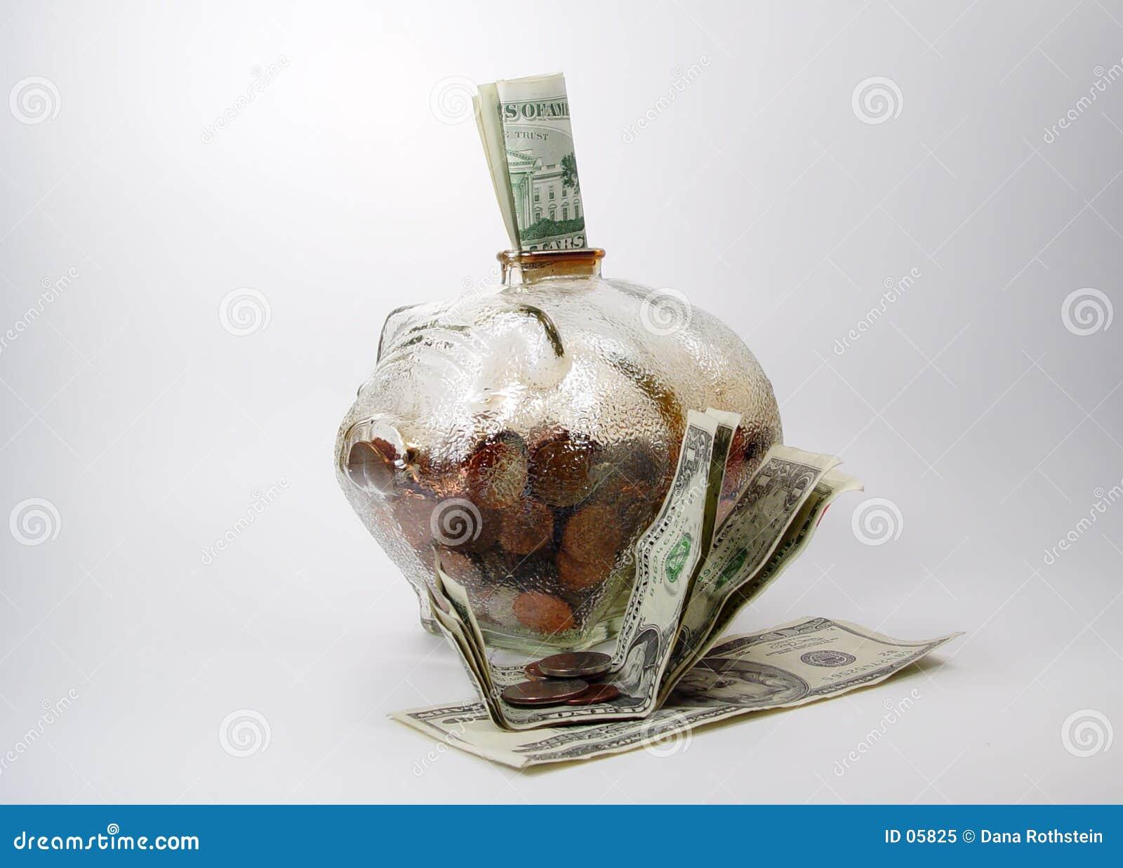 Tirelire avec de l argent