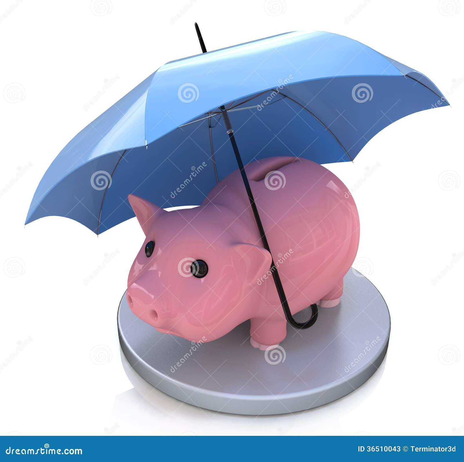 Tirelire et concept financier d assurance