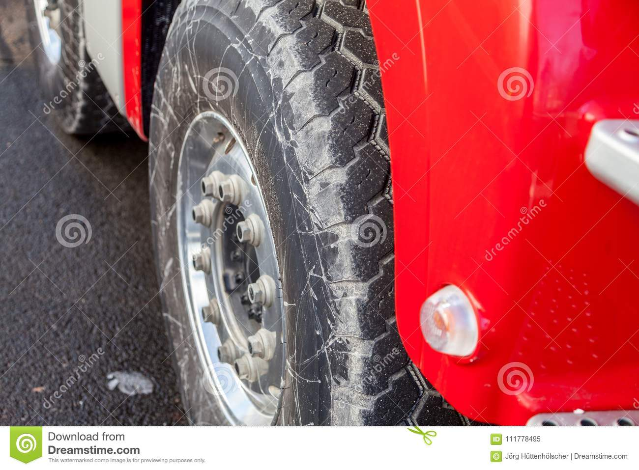 Tires on a heavy off-road truck