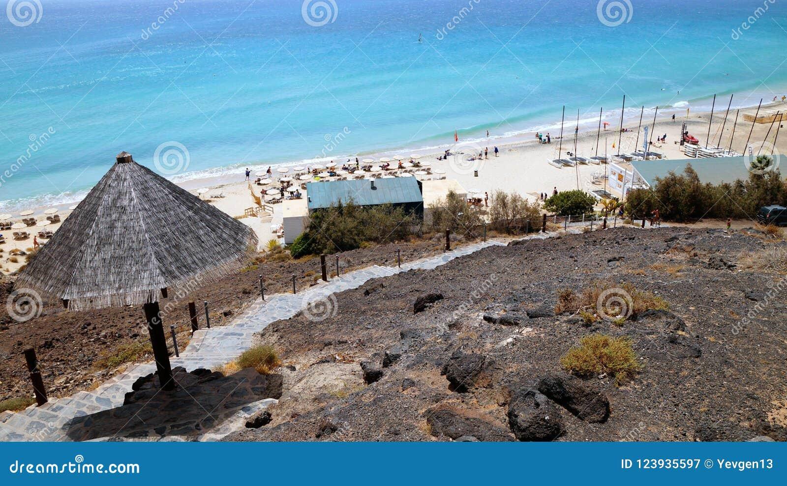 Tiri Nella Località Di Soggiorno Di Playa De Esquinzo, Fuerteventura ...