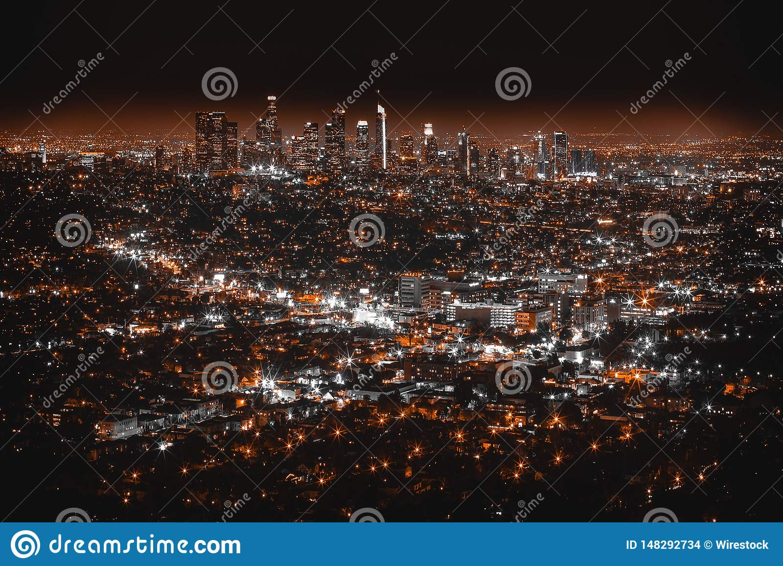 Tiro aéreo hermoso de Los Angeles