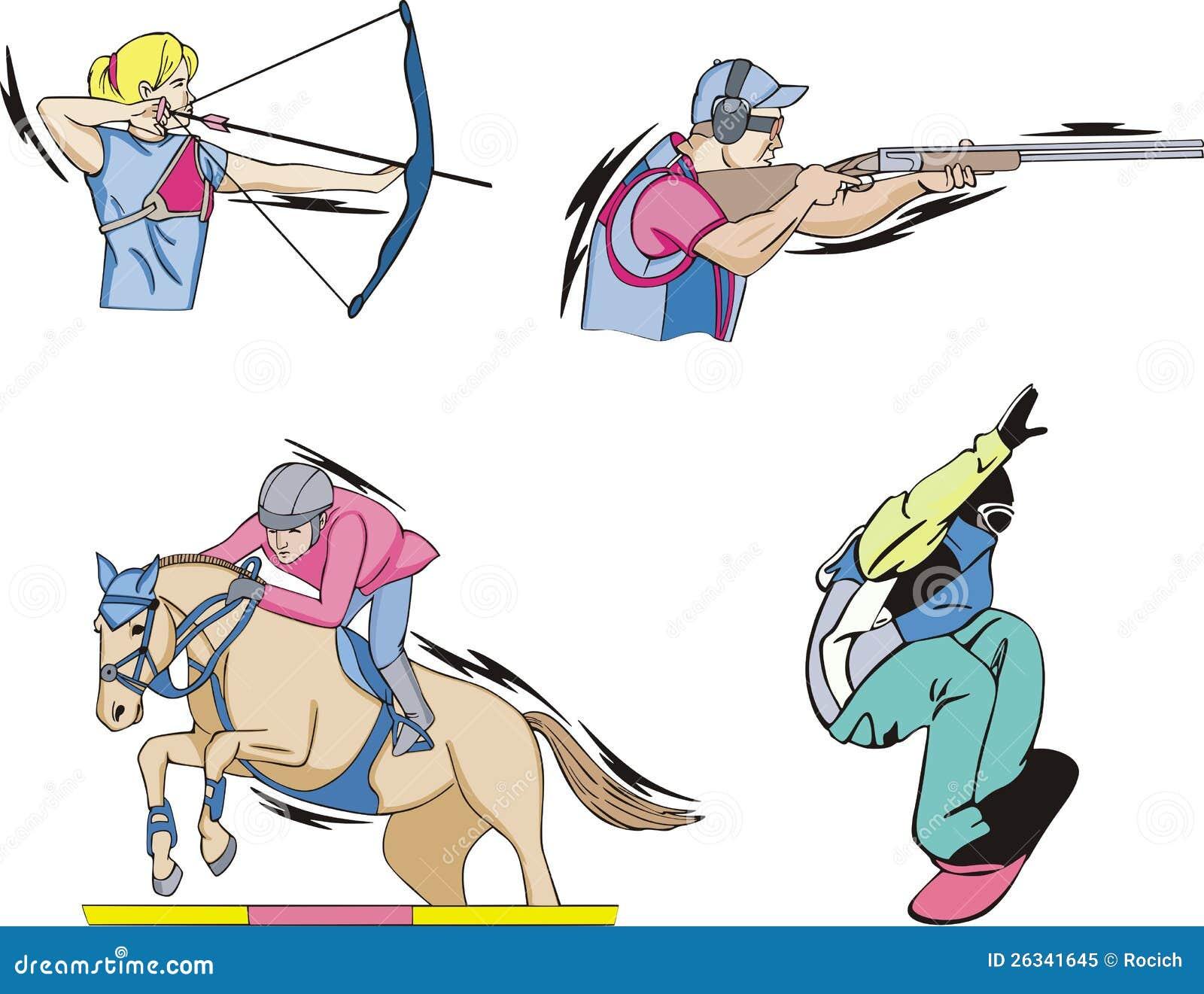 Tiro all arco, Equestrian, fucilazione e Skateboarding