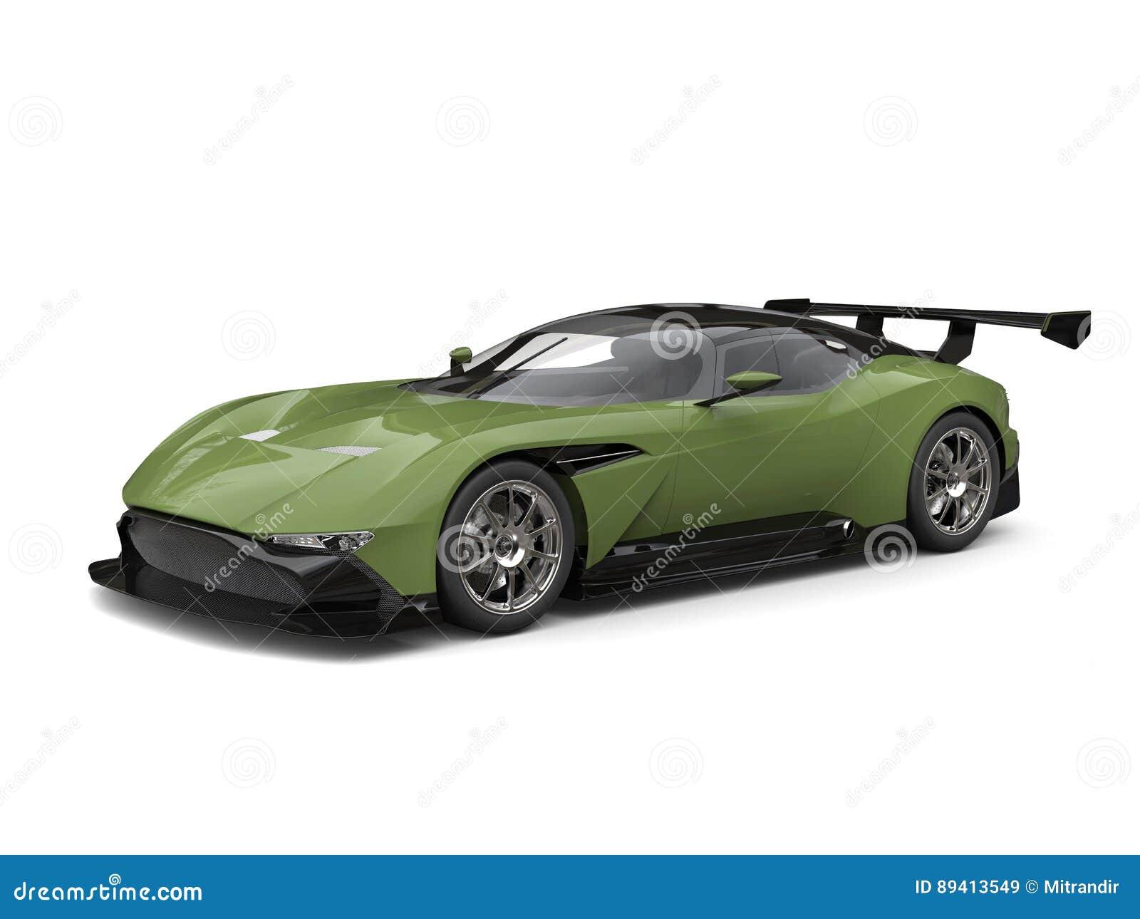 Tiro automobilístico do estúdio dos esportes modernos do verde floresta